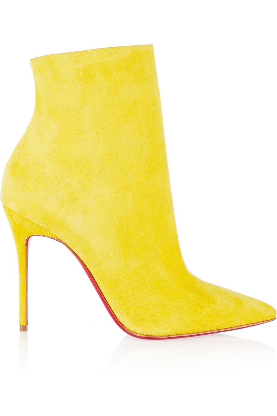 284d4324e78 Lyst - Christian Louboutin So Kate 100 Suede Ankle Boots in Yellow