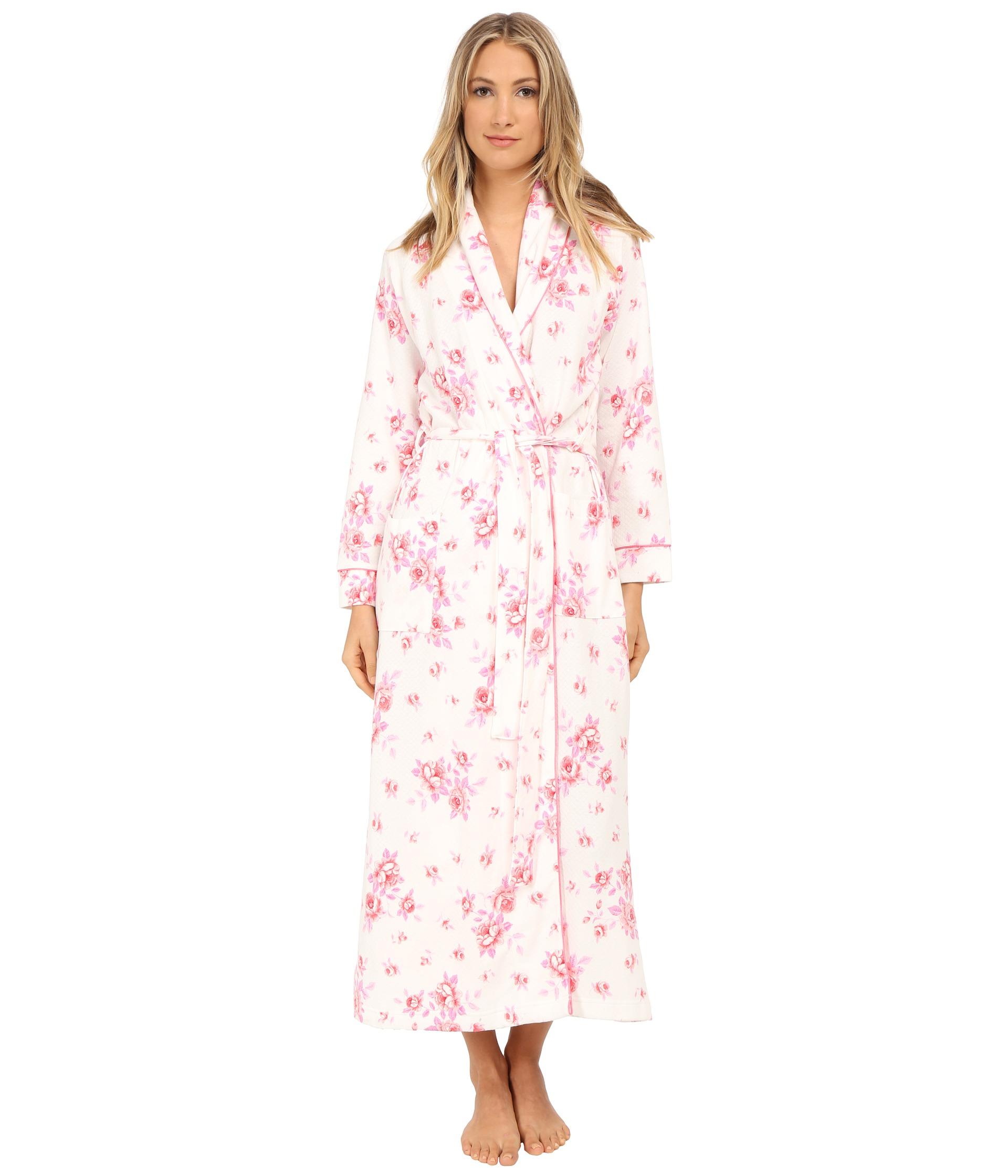 9a7adba55de1 Carole Hochman Diamond Quilted Floral Robe - Lyst