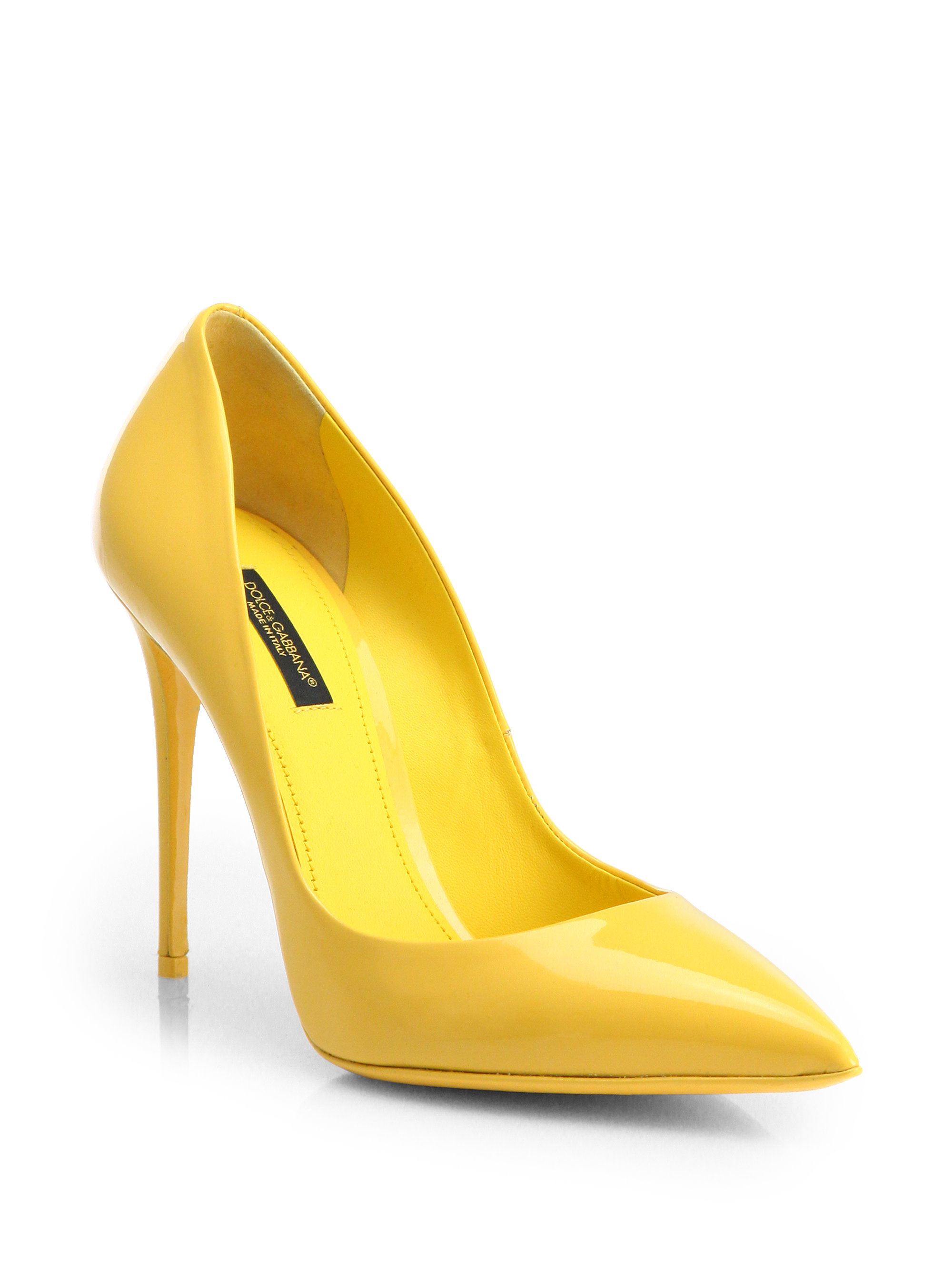 Leather Pumps Patent Dolceamp; Yellow Gabbana Kate 7gIvbf6yYm