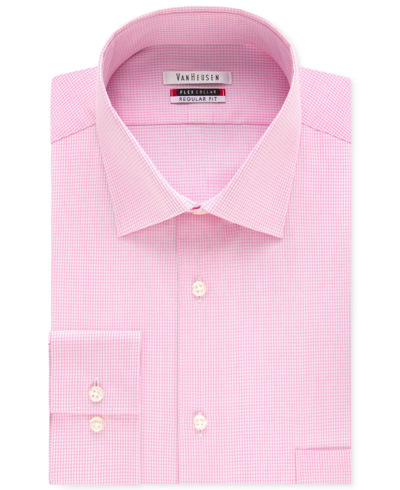 Lyst Van Heusen Mens Tek Fit Flex Collar Bright Pink Gingham