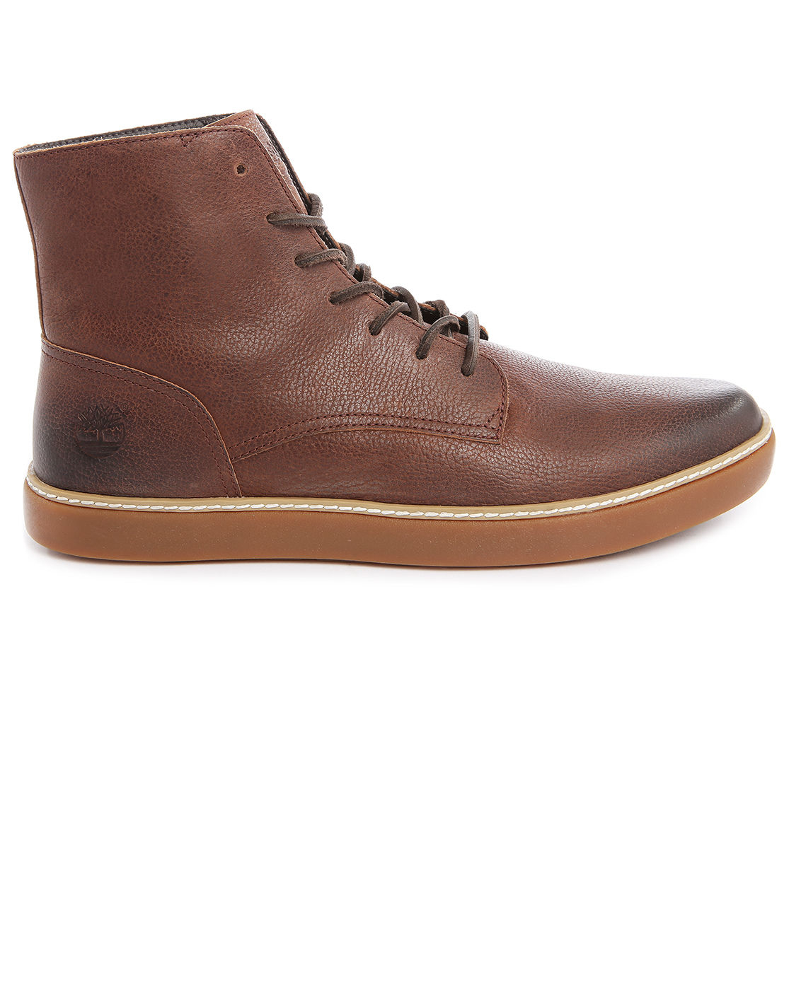 timberland hudston brown plain toe boots in brown for