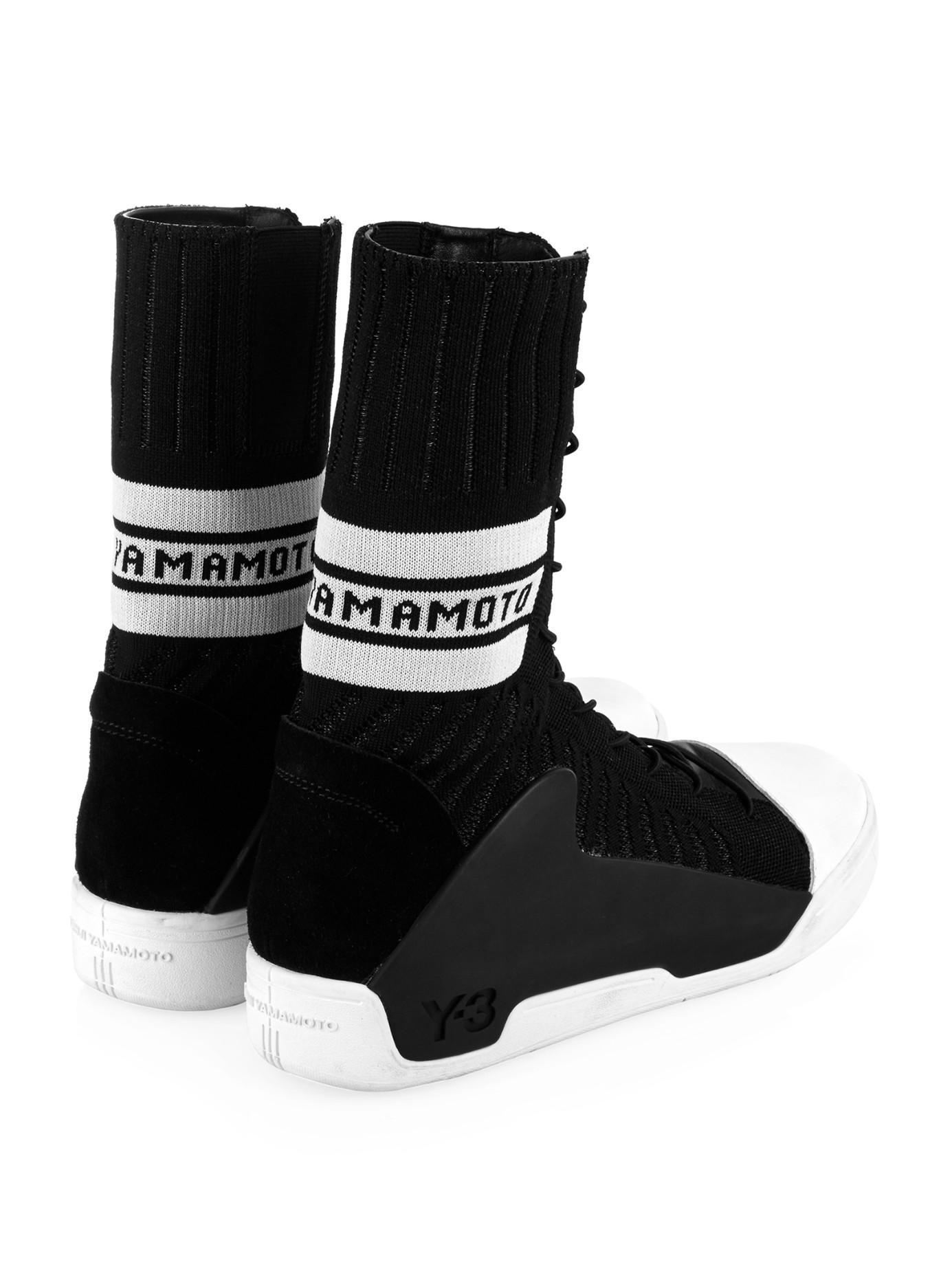 8db26bd7b Lyst - Y-3 Hayworth Guard High-Top Sneakers in Black for Men