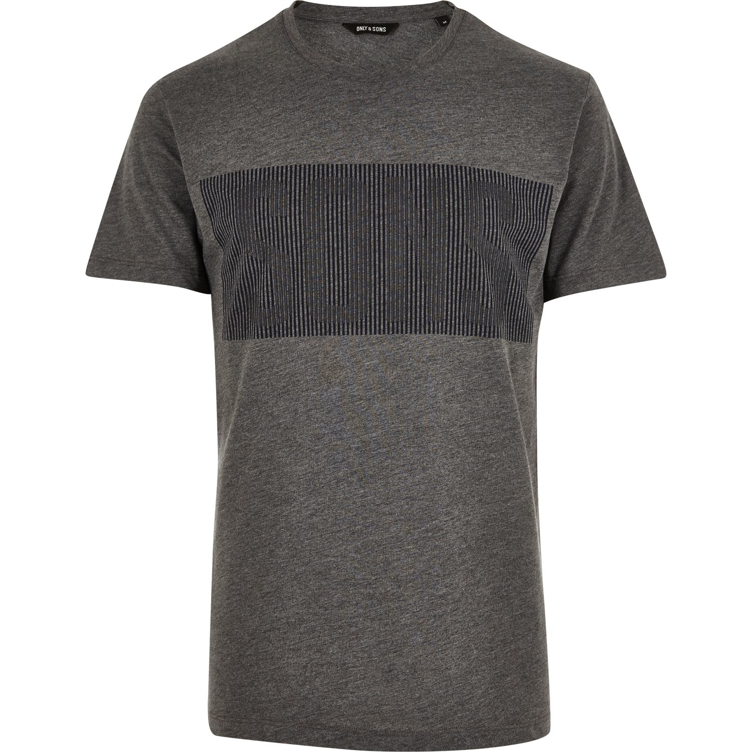 Lyst river island grey only sons graphic print t shirt for Graphic print t shirts