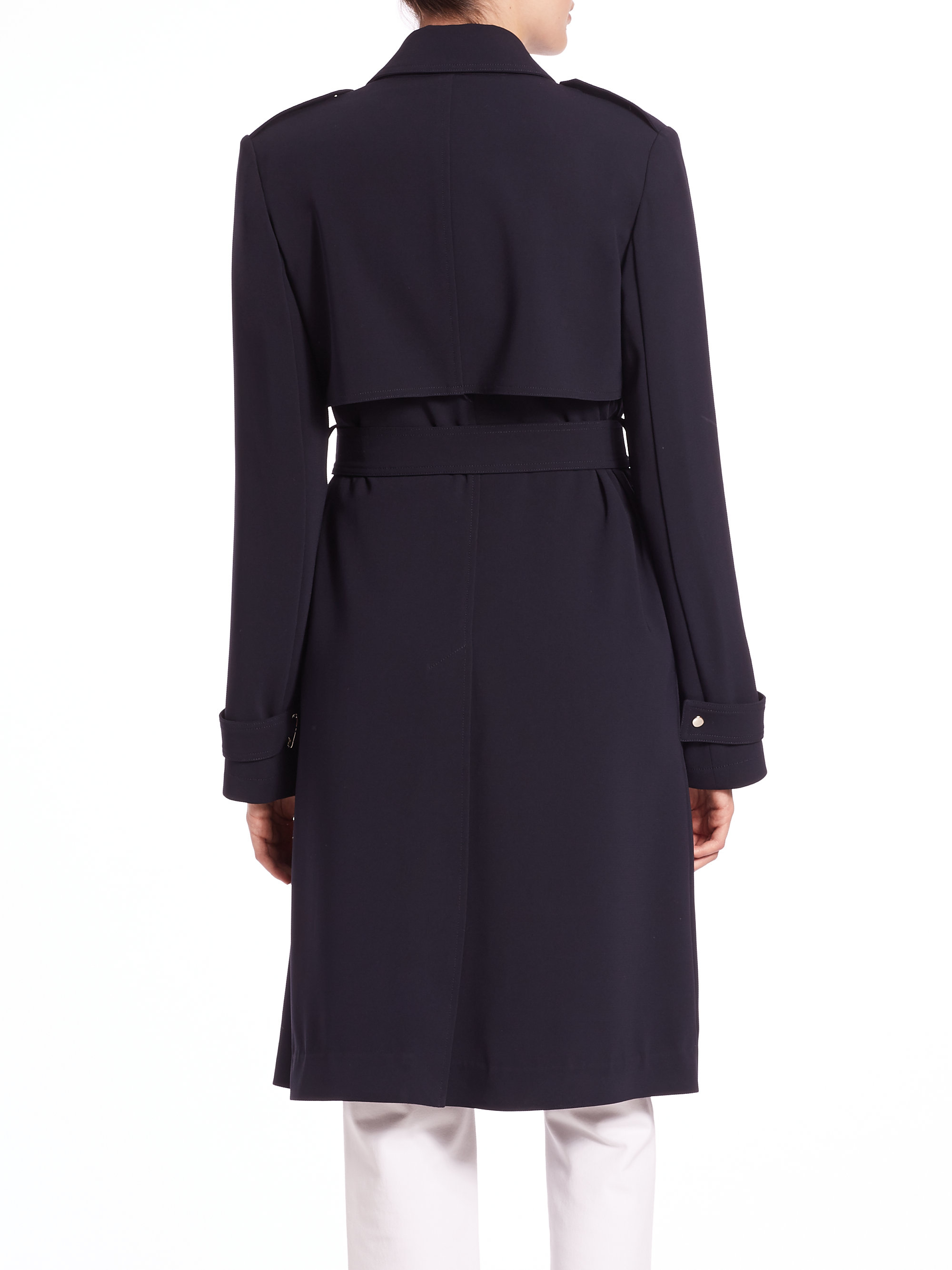 f95afc7106 Theory Oaklane B Trench Coat in Blue - Lyst
