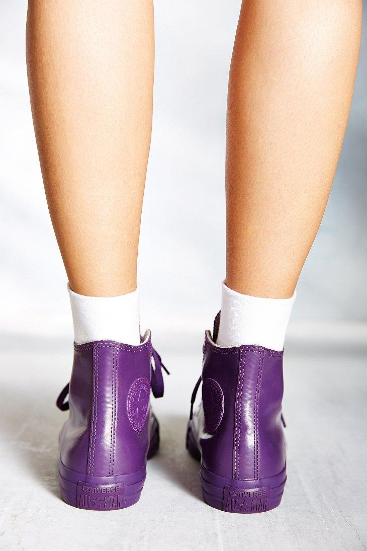 12a05e6303f Lyst - Converse Chuck Taylor All Star Berry Rubber High-Top Women S Sneaker  in Purple