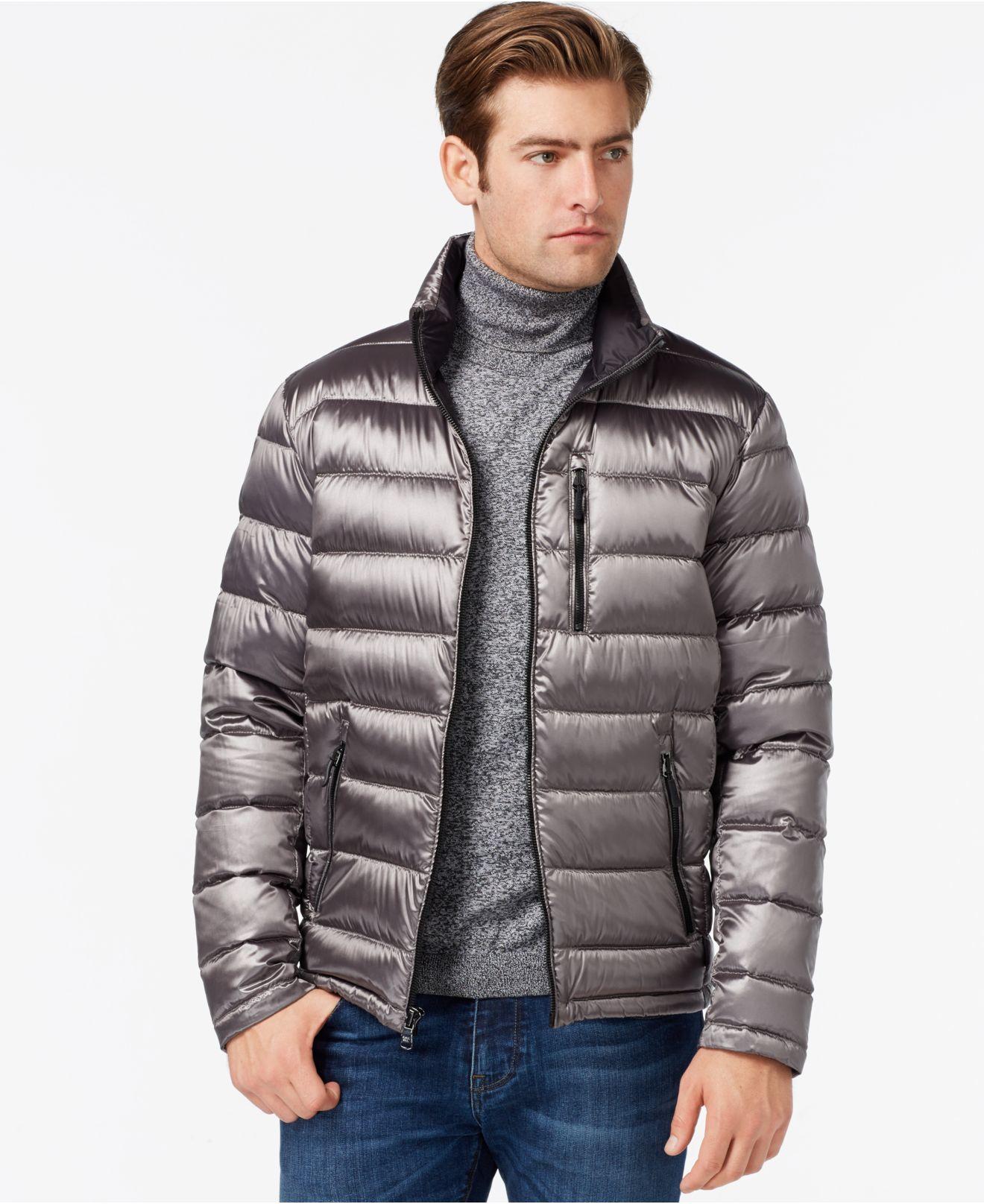 Calvin klein Men&39s Packable Down Jacket in Gray for Men | Lyst