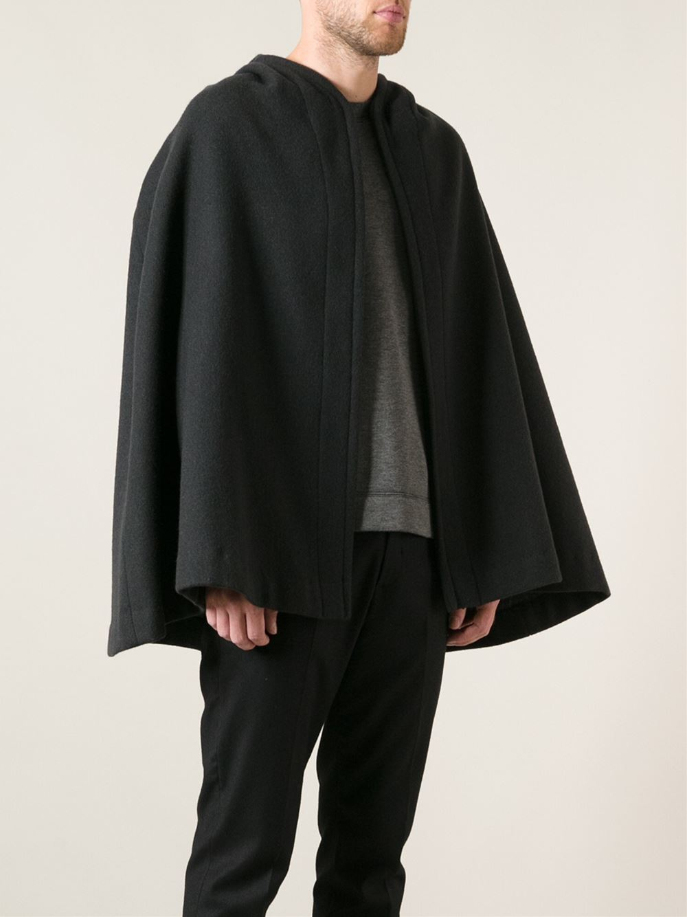 Dolce Amp Gabbana Cape Coat In Black For Men Lyst
