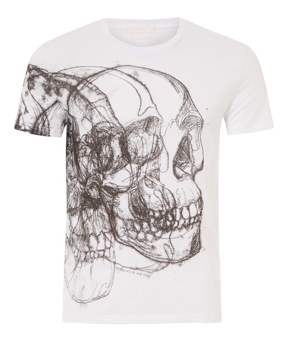 f5f214ef Alexander McQueen White 3d T-shirt in Gray for Men - Lyst