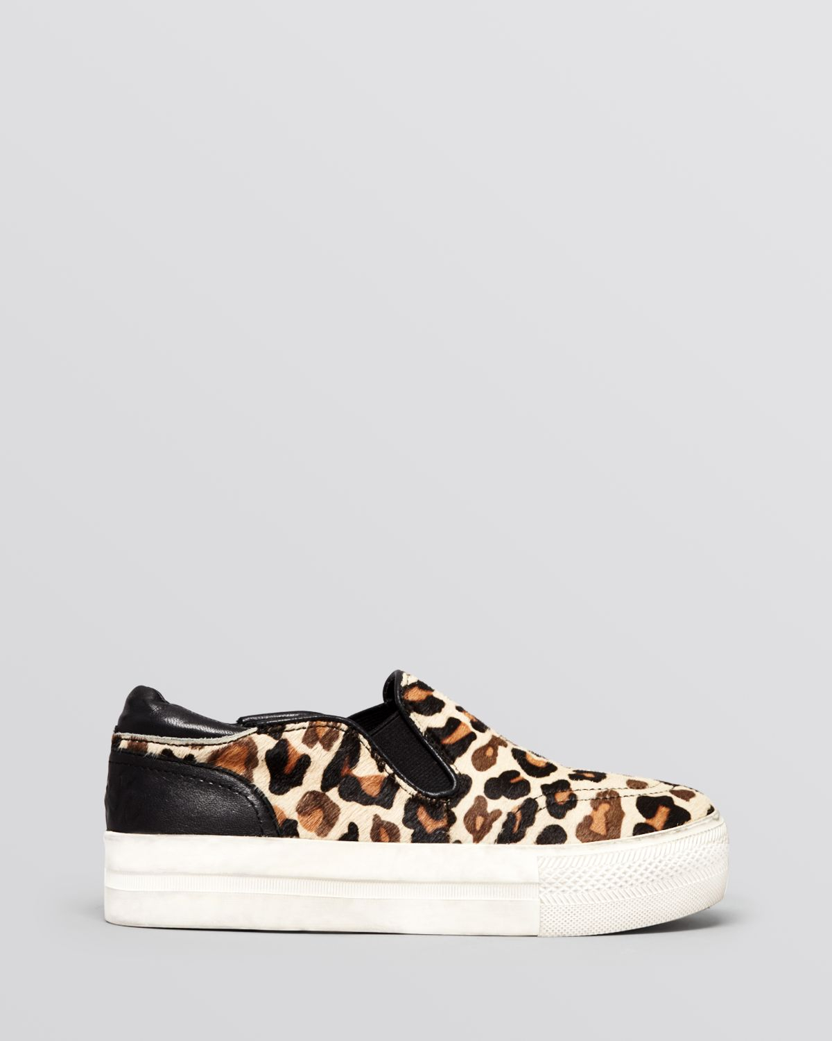 ash flat slip on sneakers jungle leopard print in natural lyst. Black Bedroom Furniture Sets. Home Design Ideas
