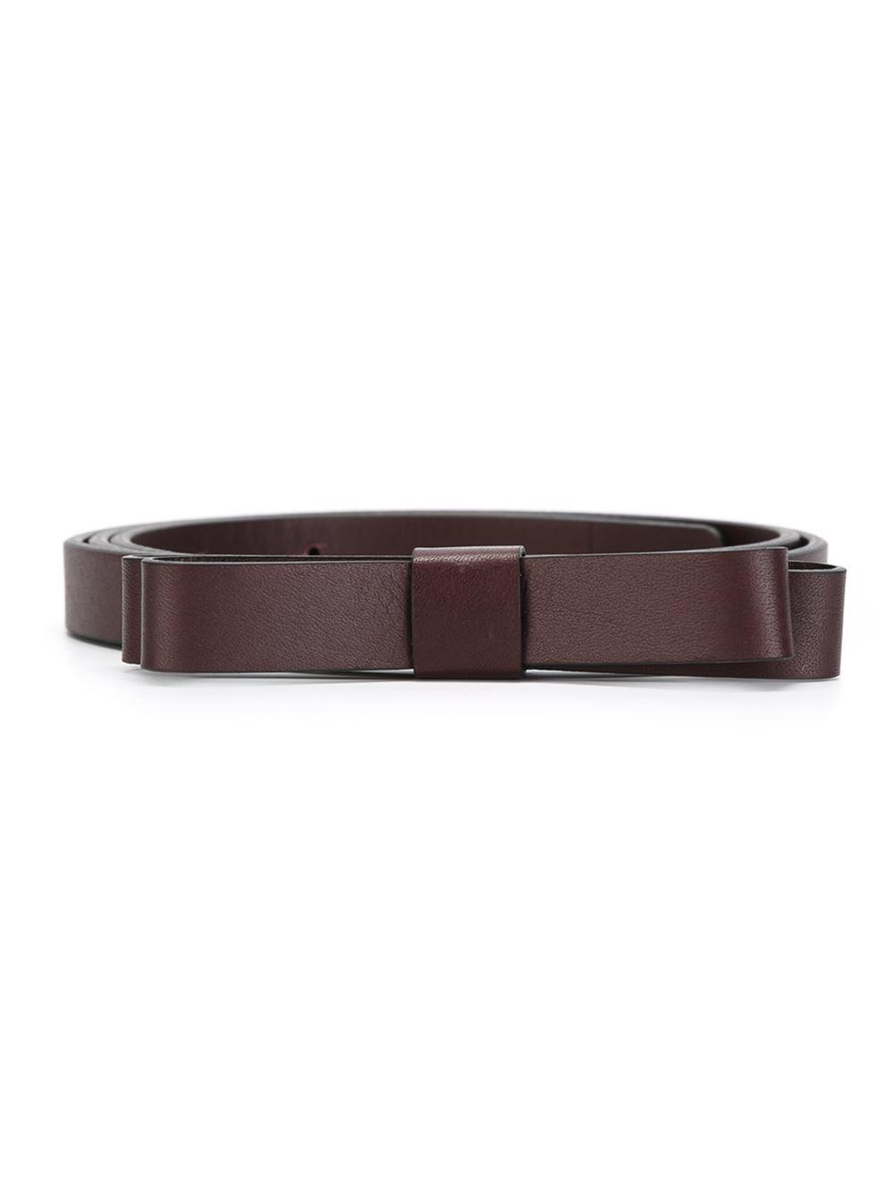 valentino bow detail belt in brown lyst