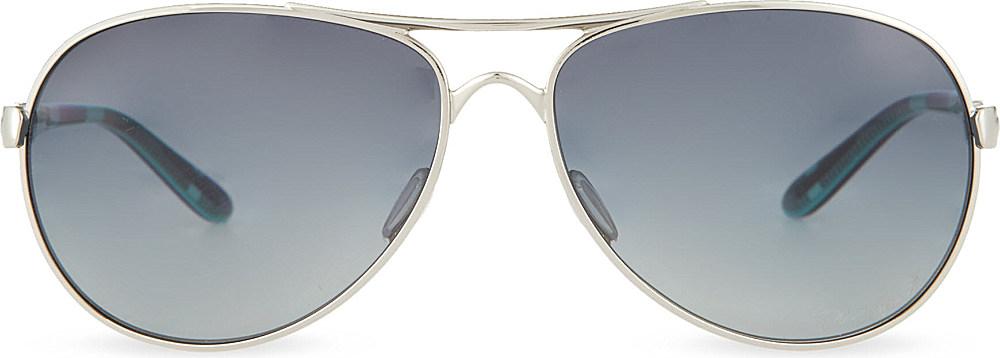 bbe64235120 Oakley Chrome Aviator Sunglasses in Metallic for Men
