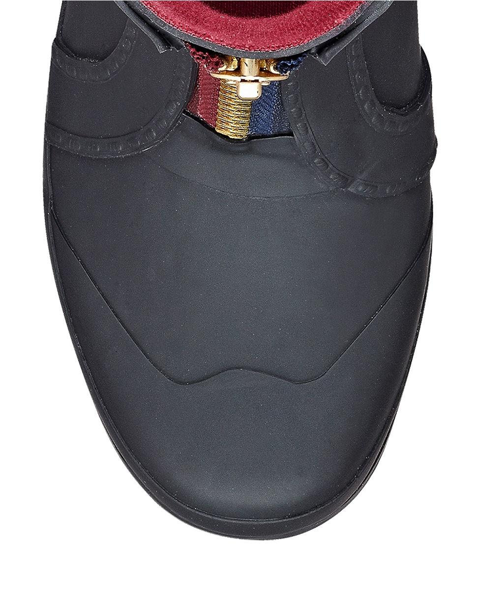 Tommy Hilfiger Rubber Ryann Zip-Up Rain Boot In Black - Lyst-9846