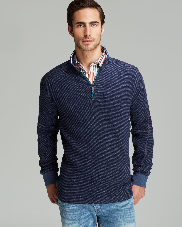 Robert graham Falconer Half Zip Sweater in Blue for Men | Lyst