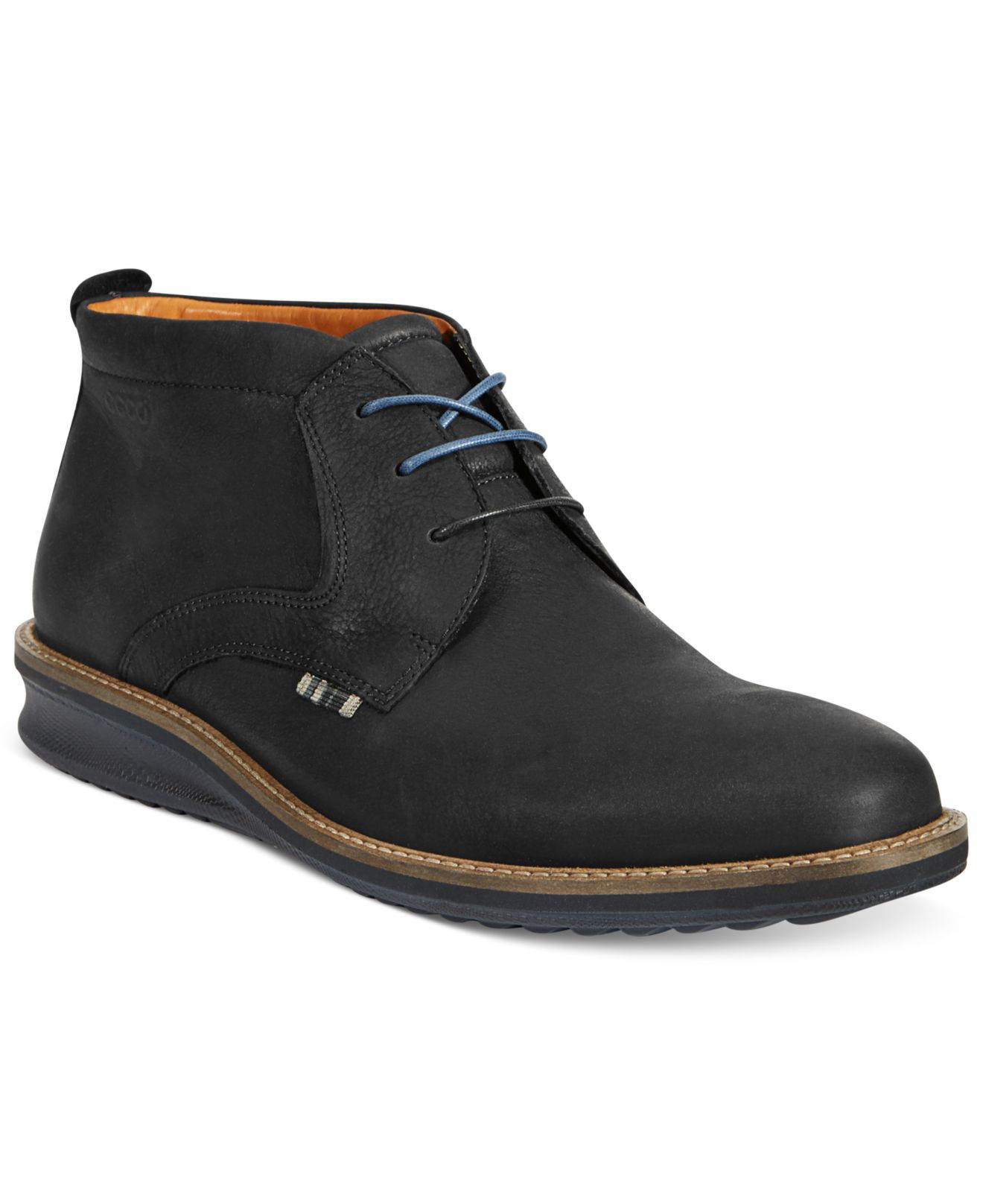 ecco contoured low cut boots in black for lyst