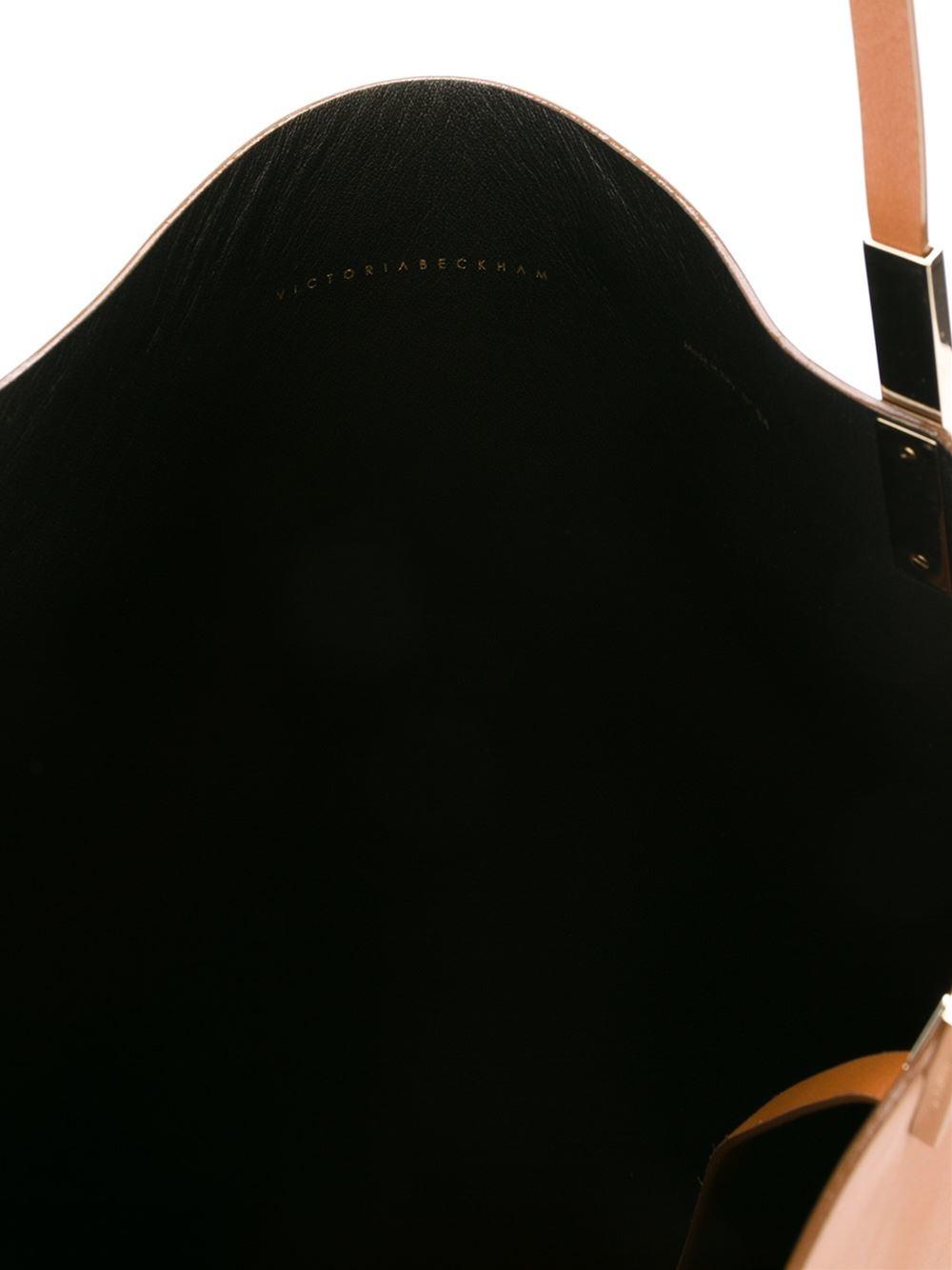 Victoria Beckham Trapeze Tote in Brown
