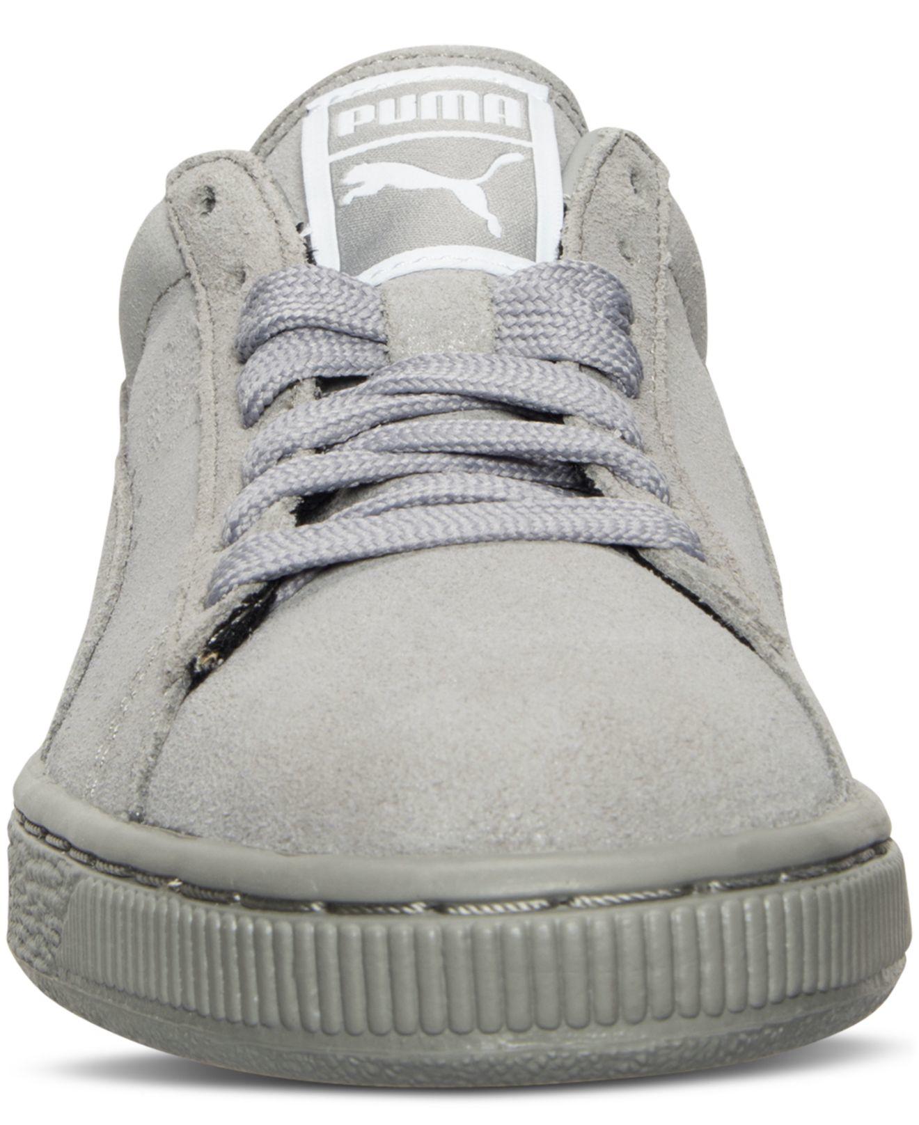 Finish Shine Gray Women's Line Suede Sneakers Puma Casual From Classic Matteamp; 0nPk8wO