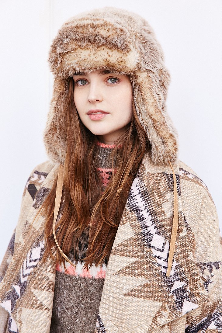 646a91a77 Urban Outfitters Brown Arctic Faux Fur Trapper Hat