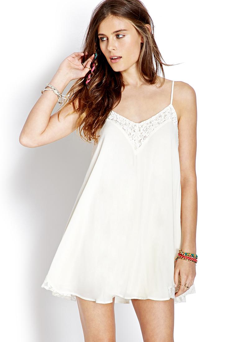 White Lace Slip Dress
