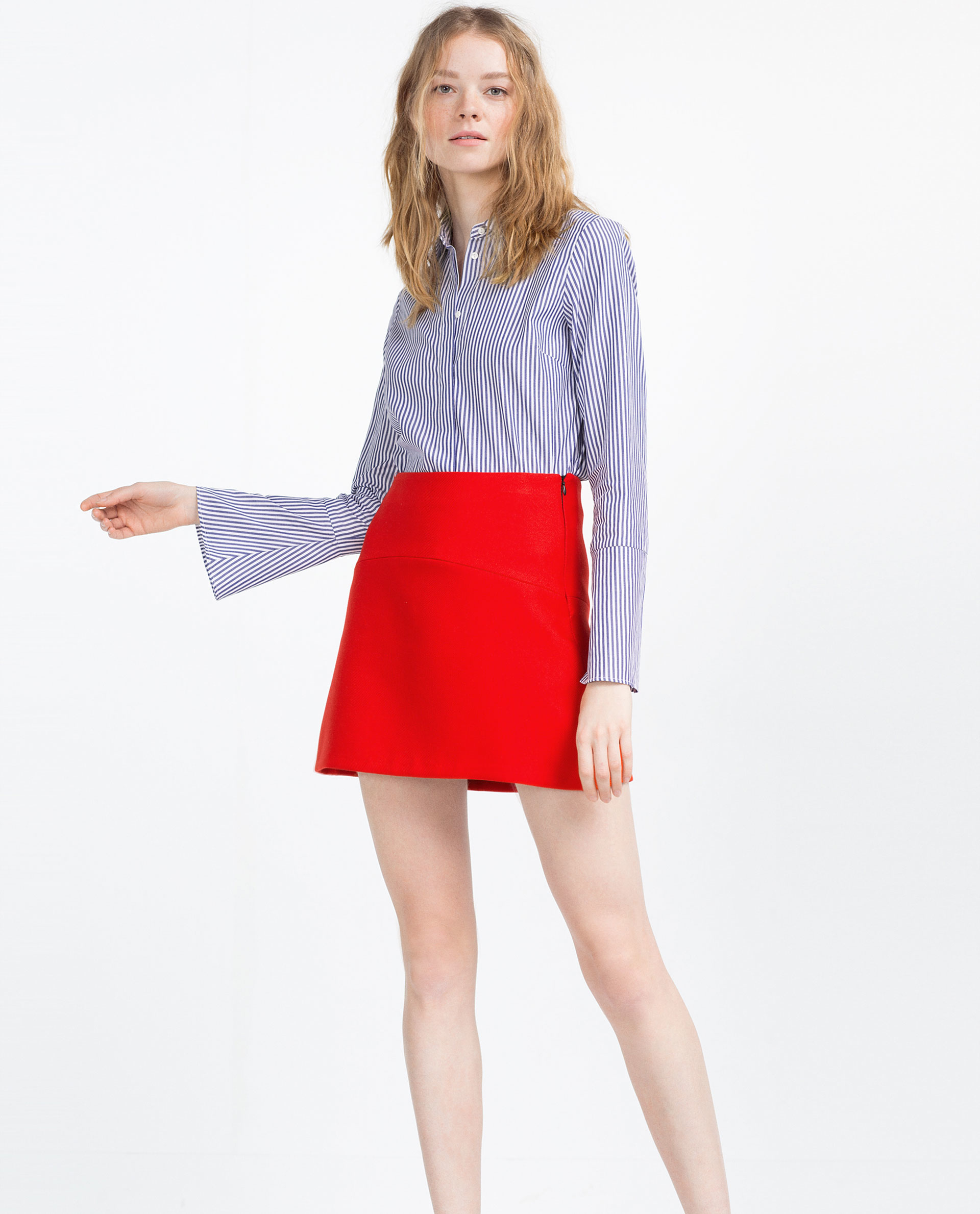 Zara Mini Skirt in Red | Lyst