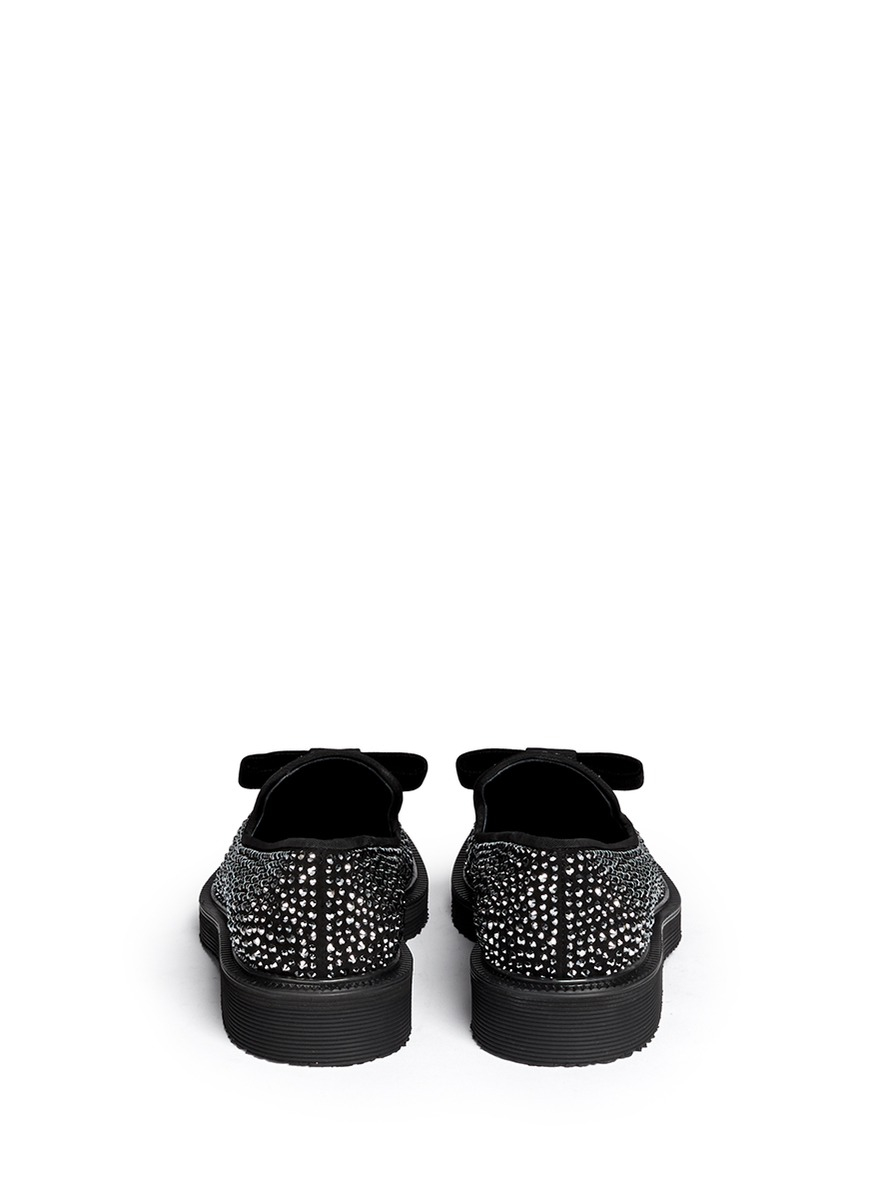 Giuseppe Zanotti Suede Bow Loafers cheap brand new unisex 2014 newest for sale free shipping sneakernews QCHDoMOqL