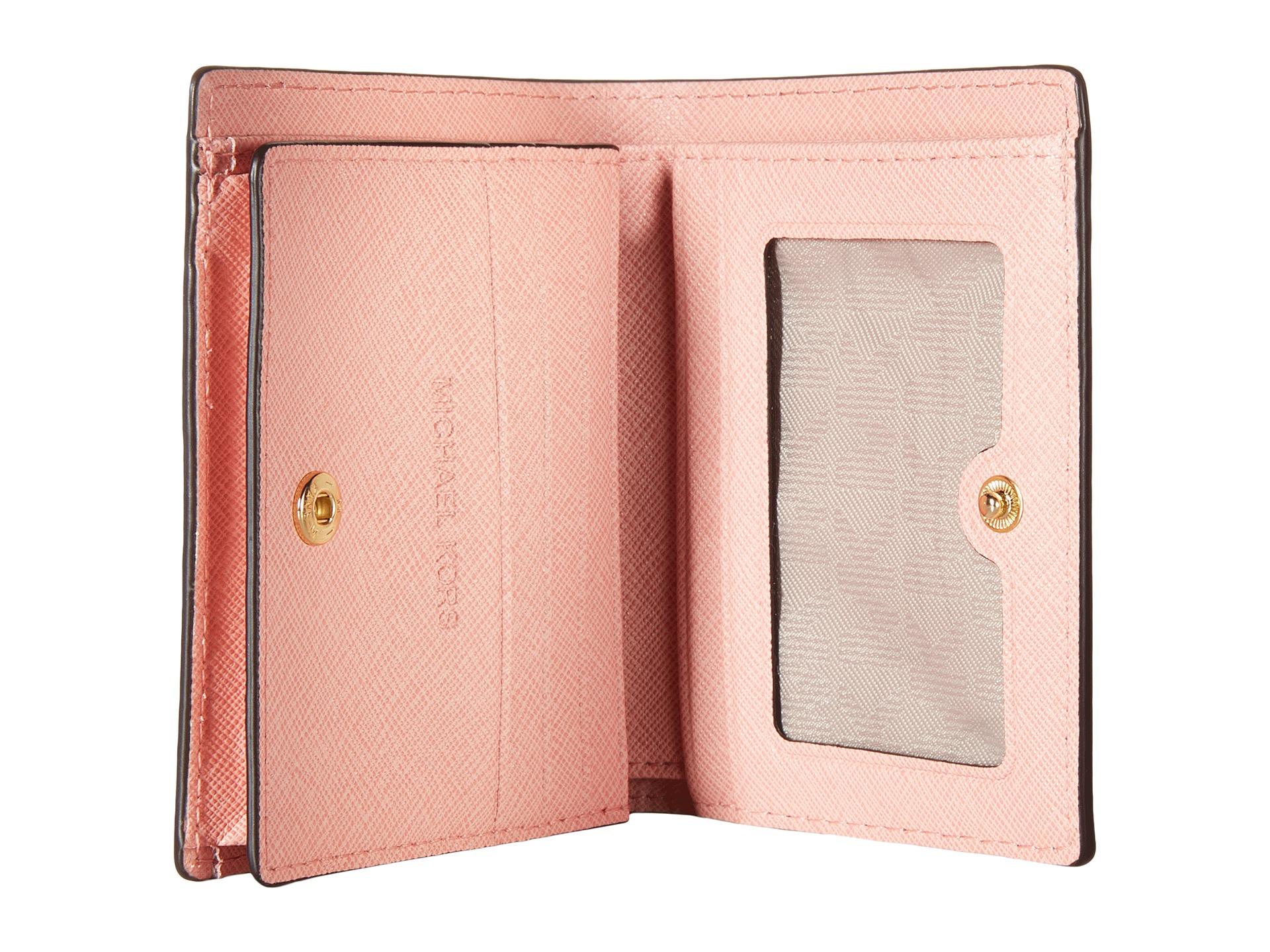 955d25e1807c5 Lyst - MICHAEL Michael Kors Jet Set Travel Flap Card Holder in Pink