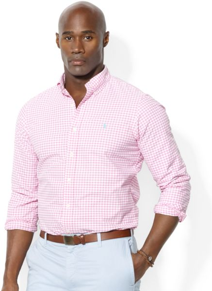 Ralph Lauren Polo Big And Tall Gingham Checked Oxford