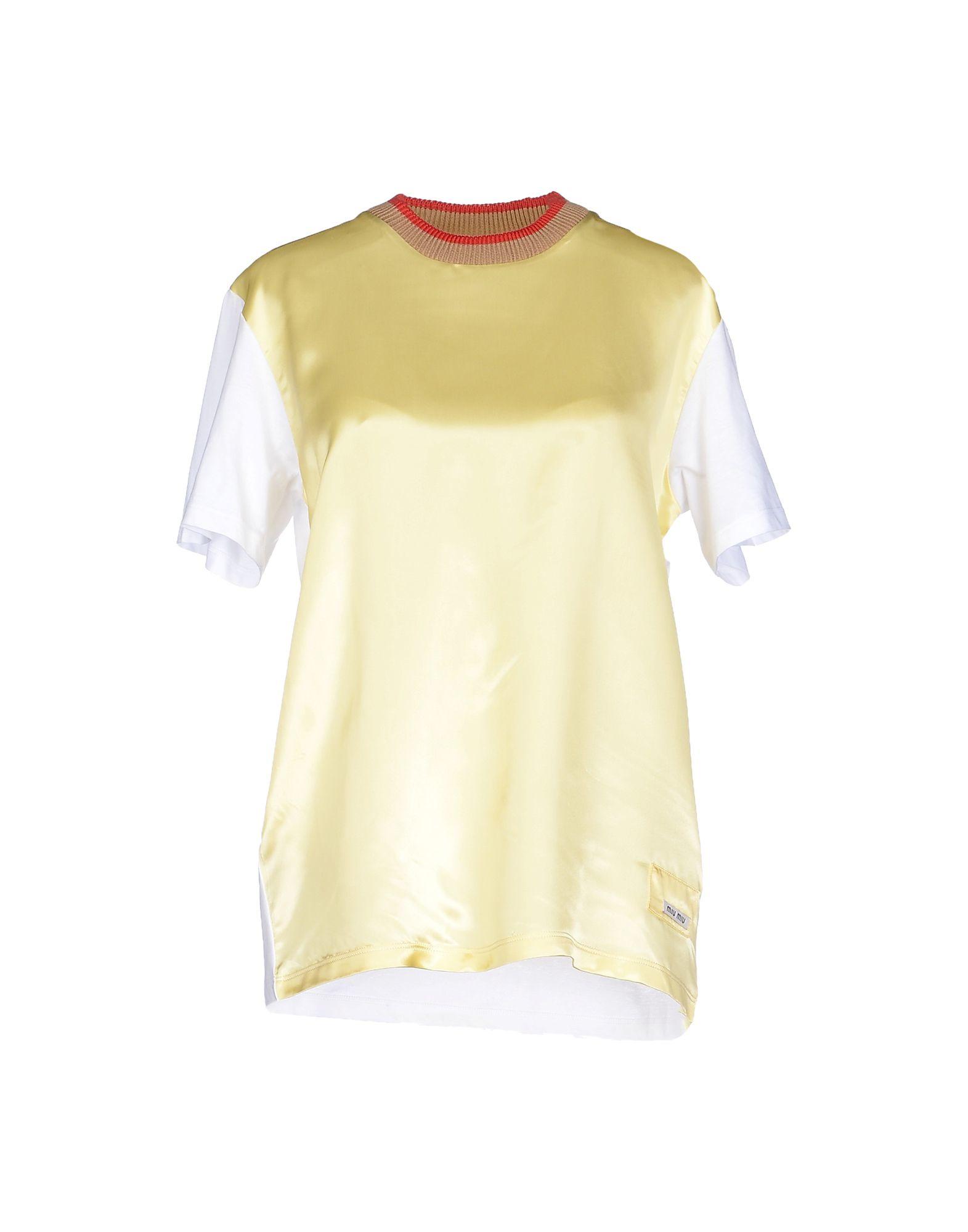 lyst miu miu t shirt in yellow