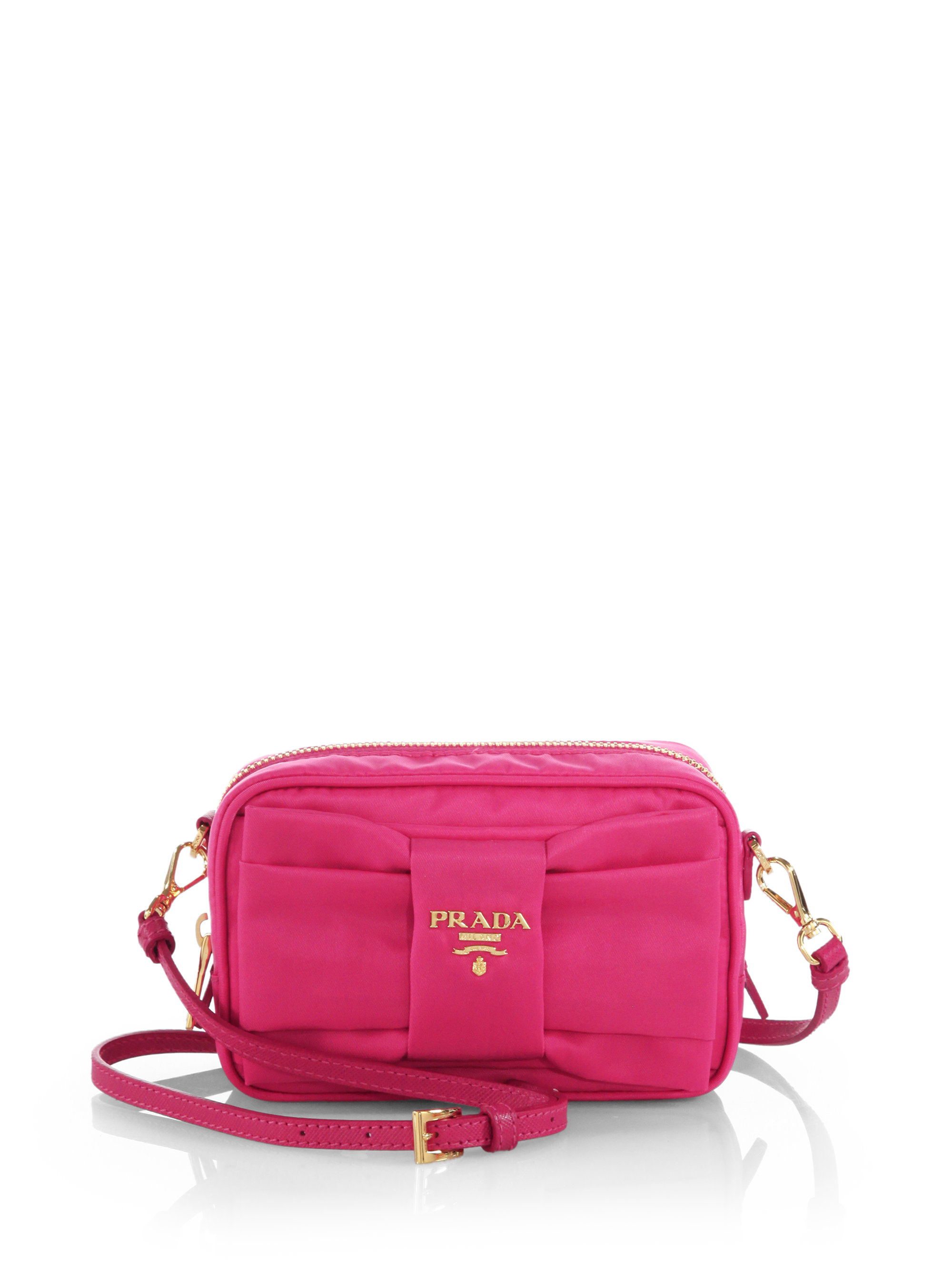955eaabbf9c8 Lyst - Prada Tessuto Nylon Bow Crossbody Bag in Purple