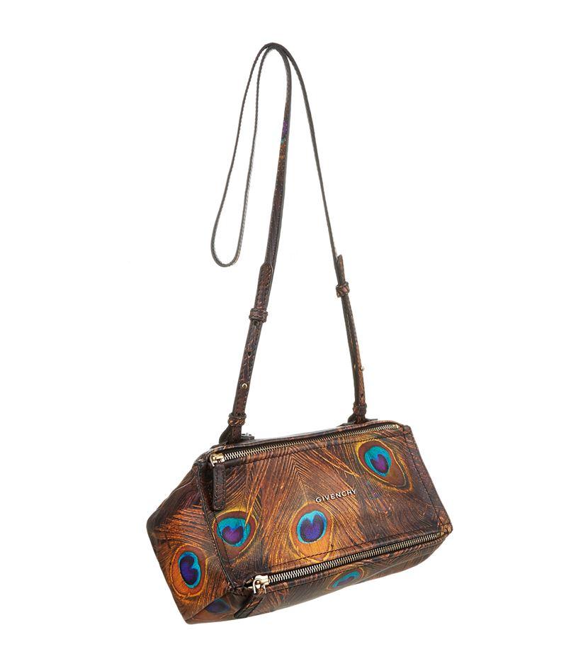 d7de3fe6ad Givenchy Pandora Small Shoulder Peacock Print Bag - Lyst
