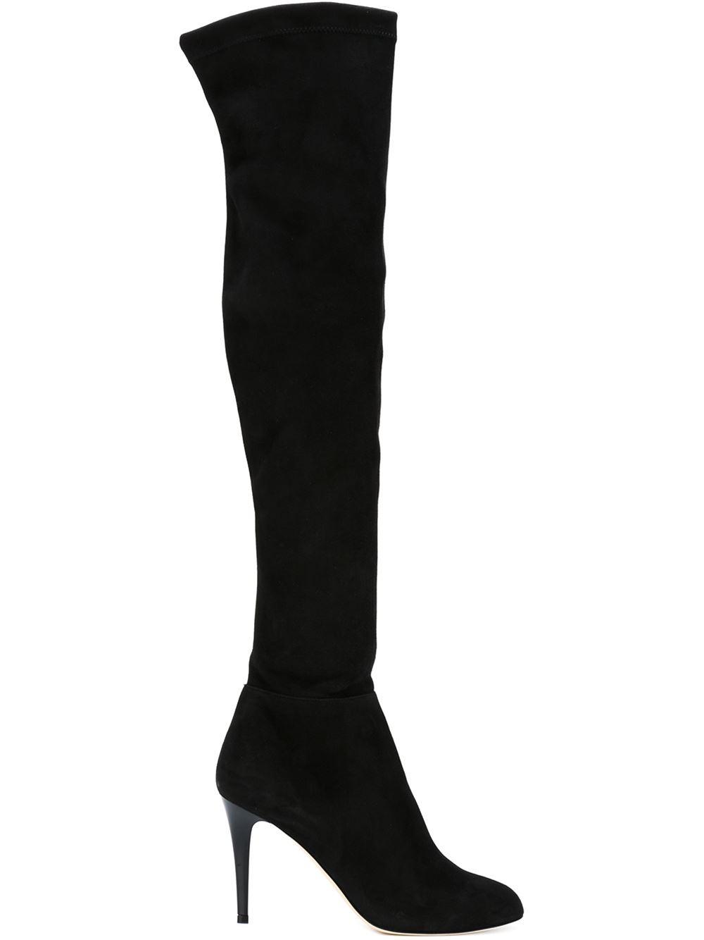 jimmy choo toni thigh high boots in black lyst