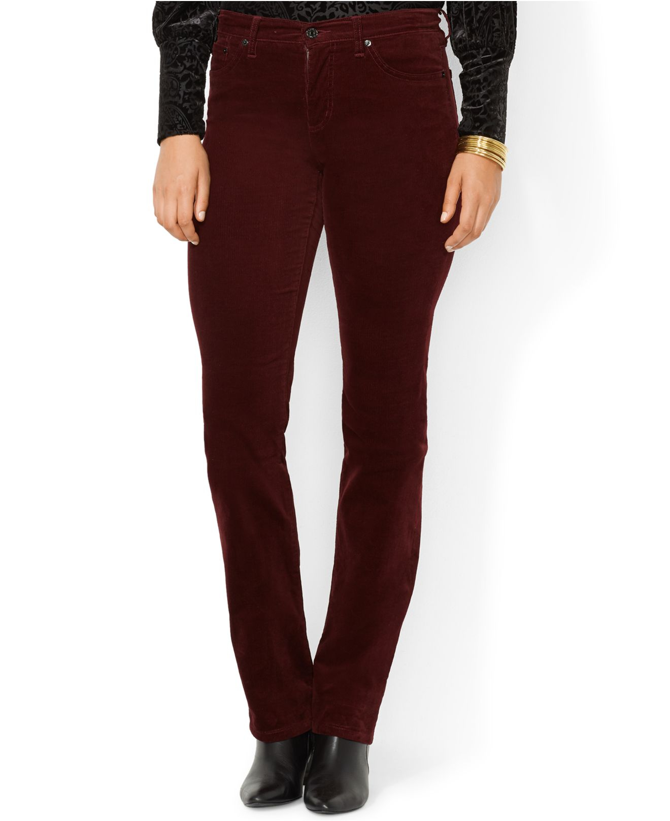 Lauren by ralph lauren Plus Size Corduroy Straight-Leg Pants in ...