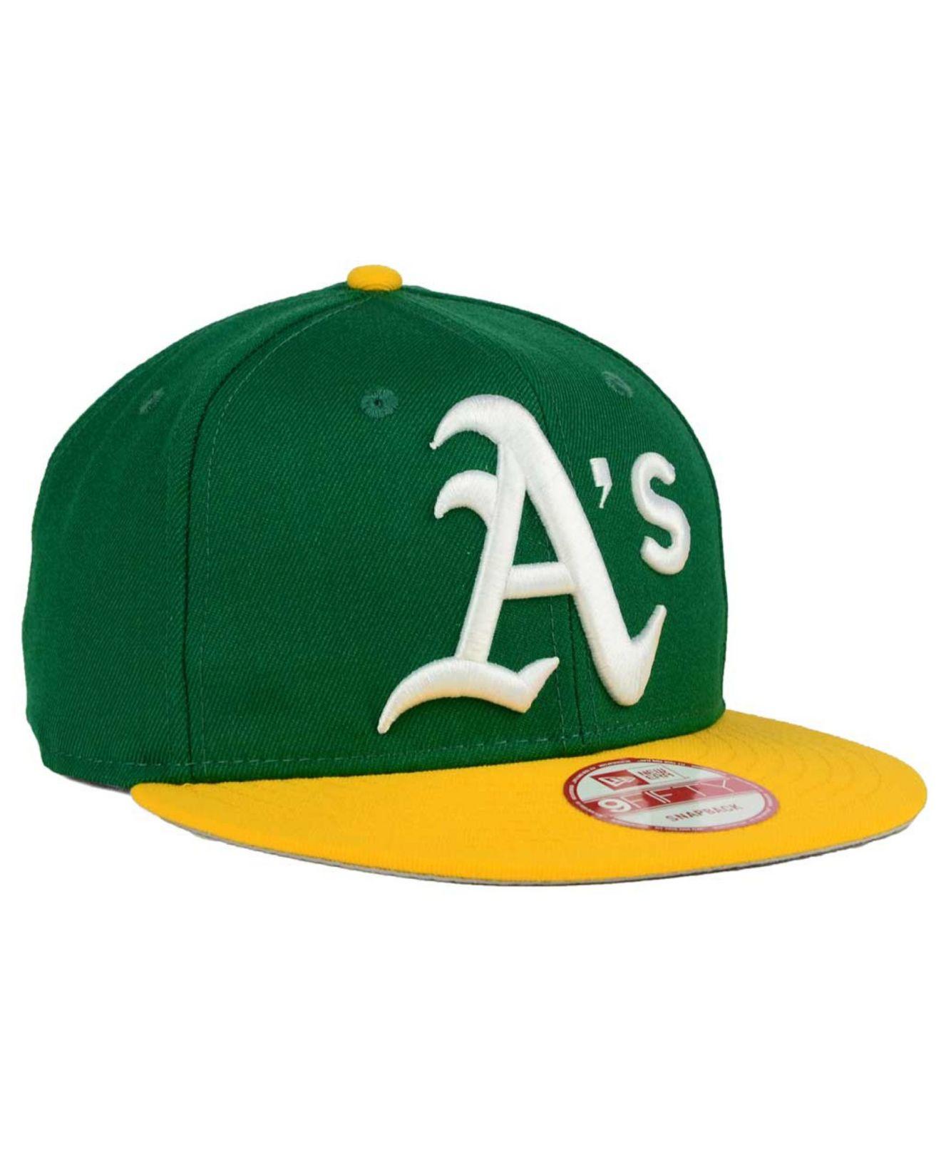 Ktz Oakland Athletics Biggie 9fifty Snapback Cap in Green for Men  4450fba8a156