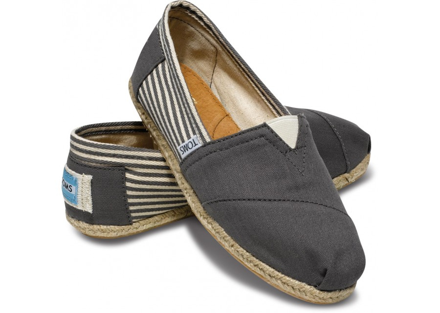 e3f6d731acb Toms Ash University Rope Sole Womens Classics in Gray - Lyst