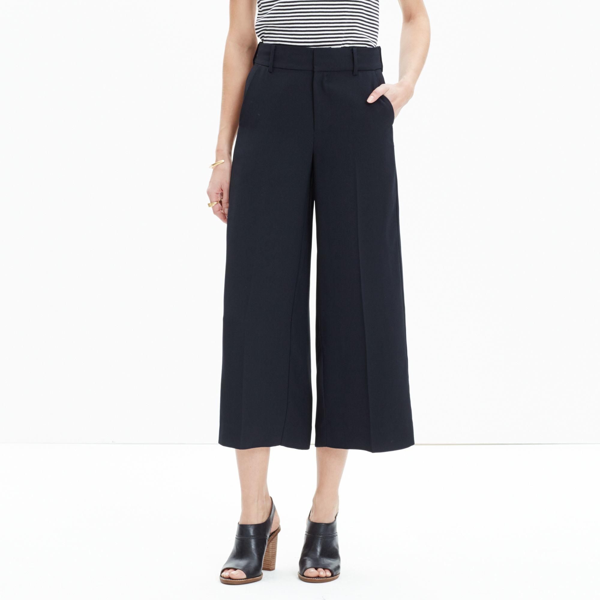 bb7d6805e0 Lyst - Madewell Stockton Culotte Pants in Black