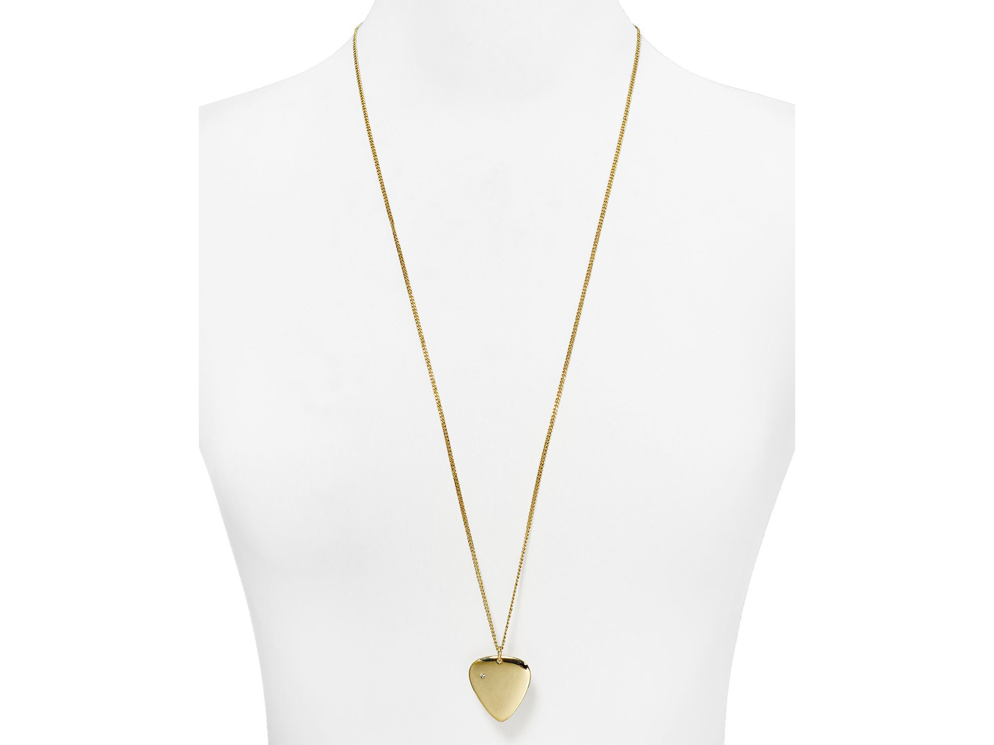 """Marc By Marc Jacobs Plectrum Pendant Necklace, 32"""" in Gold (Metallic)"""