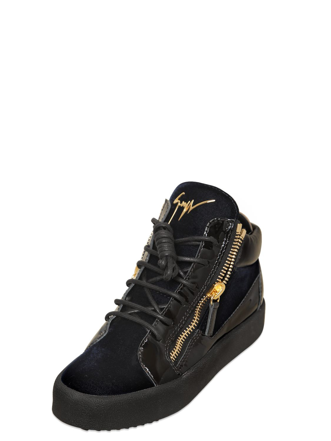 Giuseppe Zanotti Velvet mid-top sneaker KRISS Pick A Best Sale High Quality Fast Delivery Cheap Price n1LnzQcT