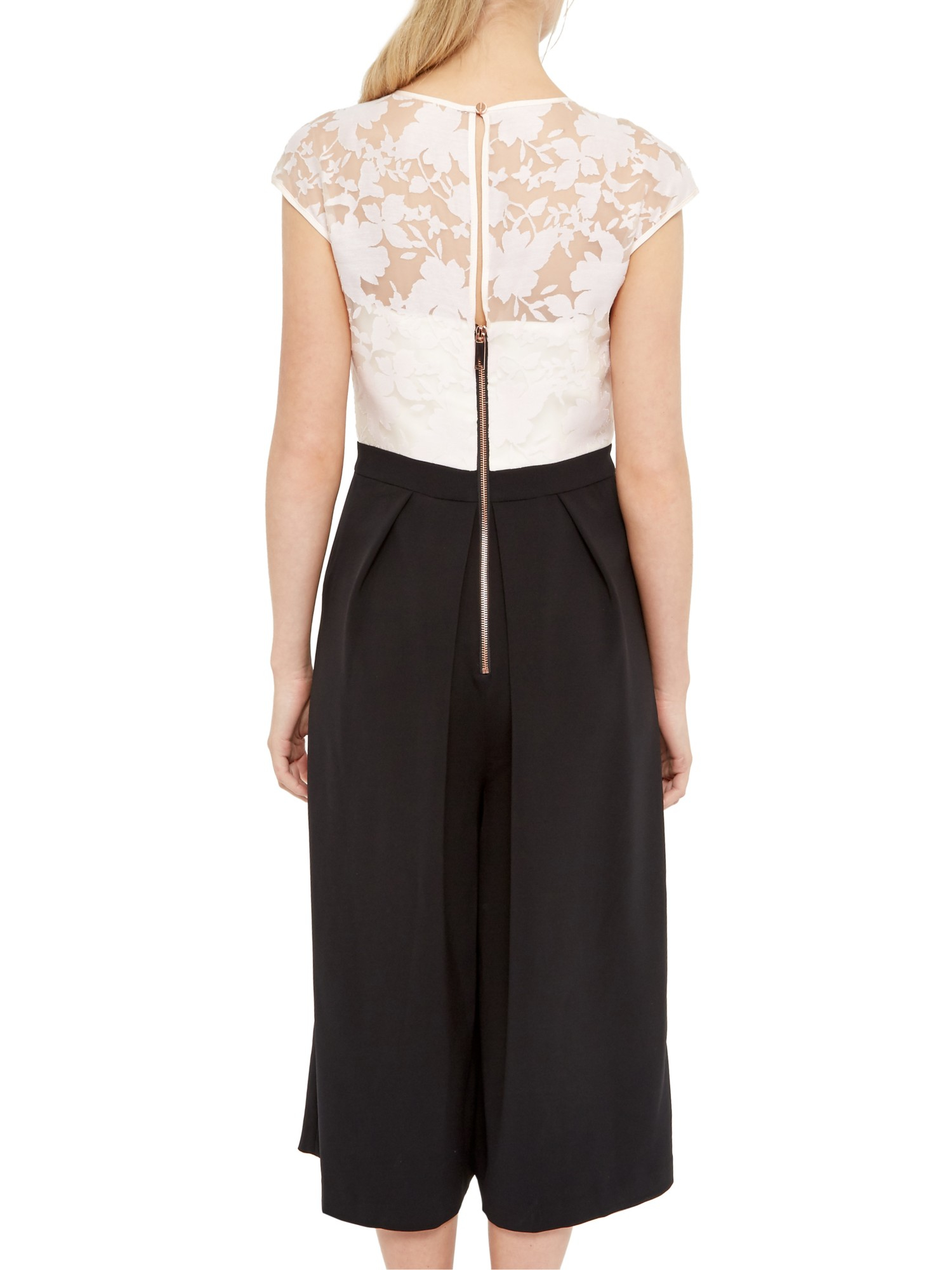 aedc1009e8 Ted Baker Braylee Burnout Cropped Jumpsuit - Lyst
