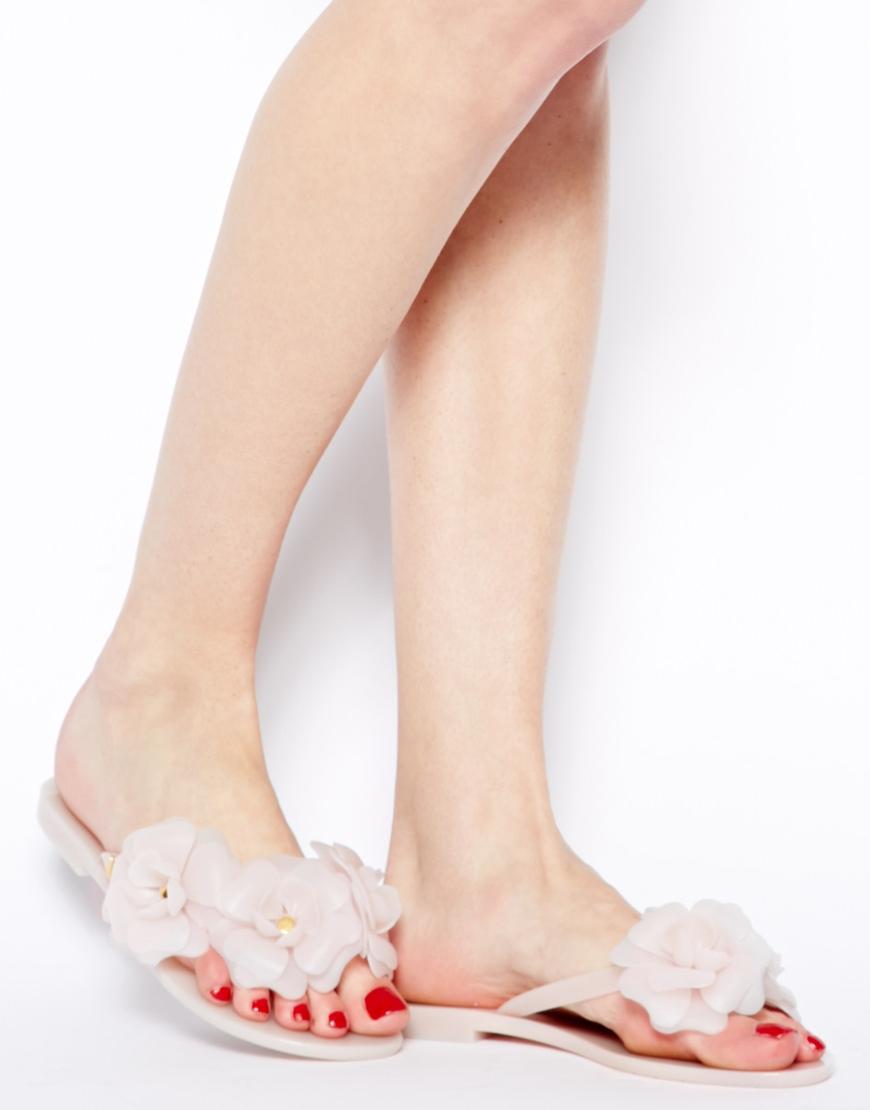 2680aaa03 Lyst - Melissa Harmonic Garden Frost Sandals in Pink