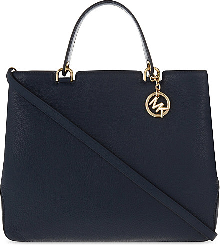 7fc9db696d5ef MICHAEL Michael Kors Anabelle Extra-large Leather Tote in Blue - Lyst
