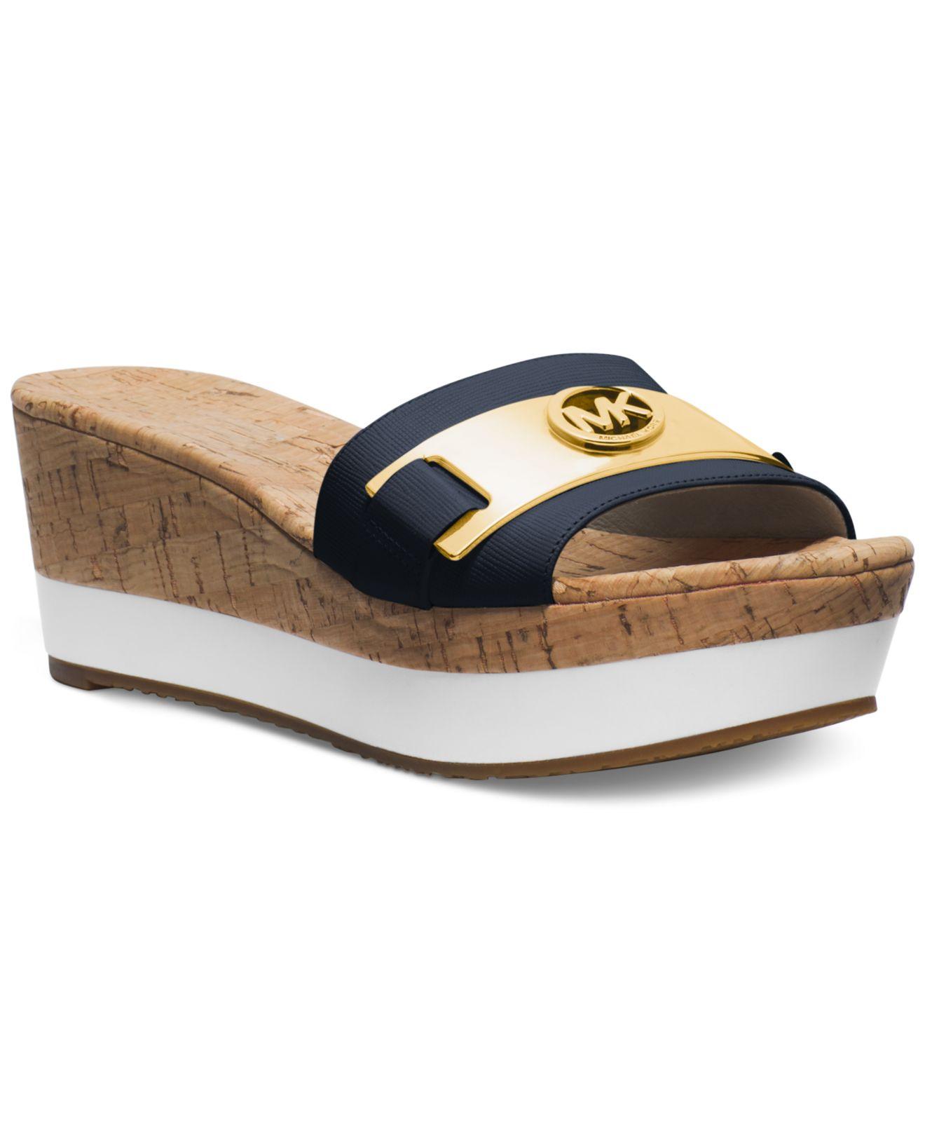 Lyst Michael Kors Michael Warren Platform Wedge Sandals