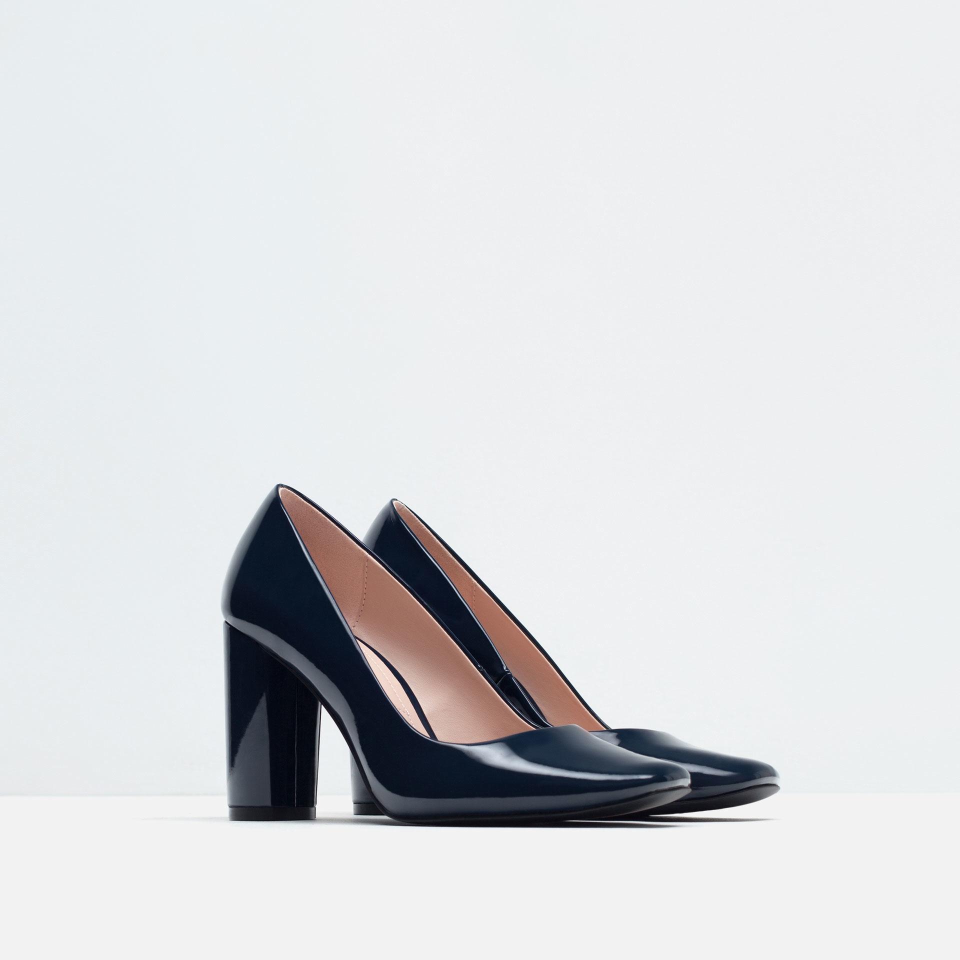Navy Strappy High Heels