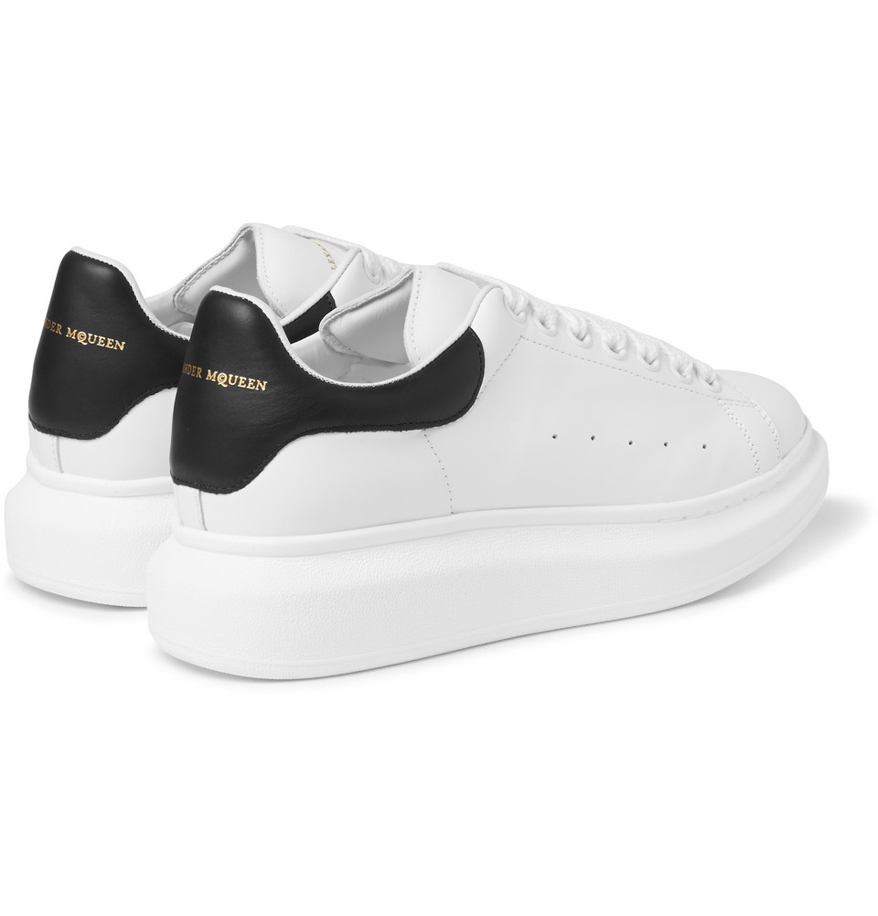 ff76b141d2a2 Alexander McQueen Leather Sneakers in White for Men - Lyst