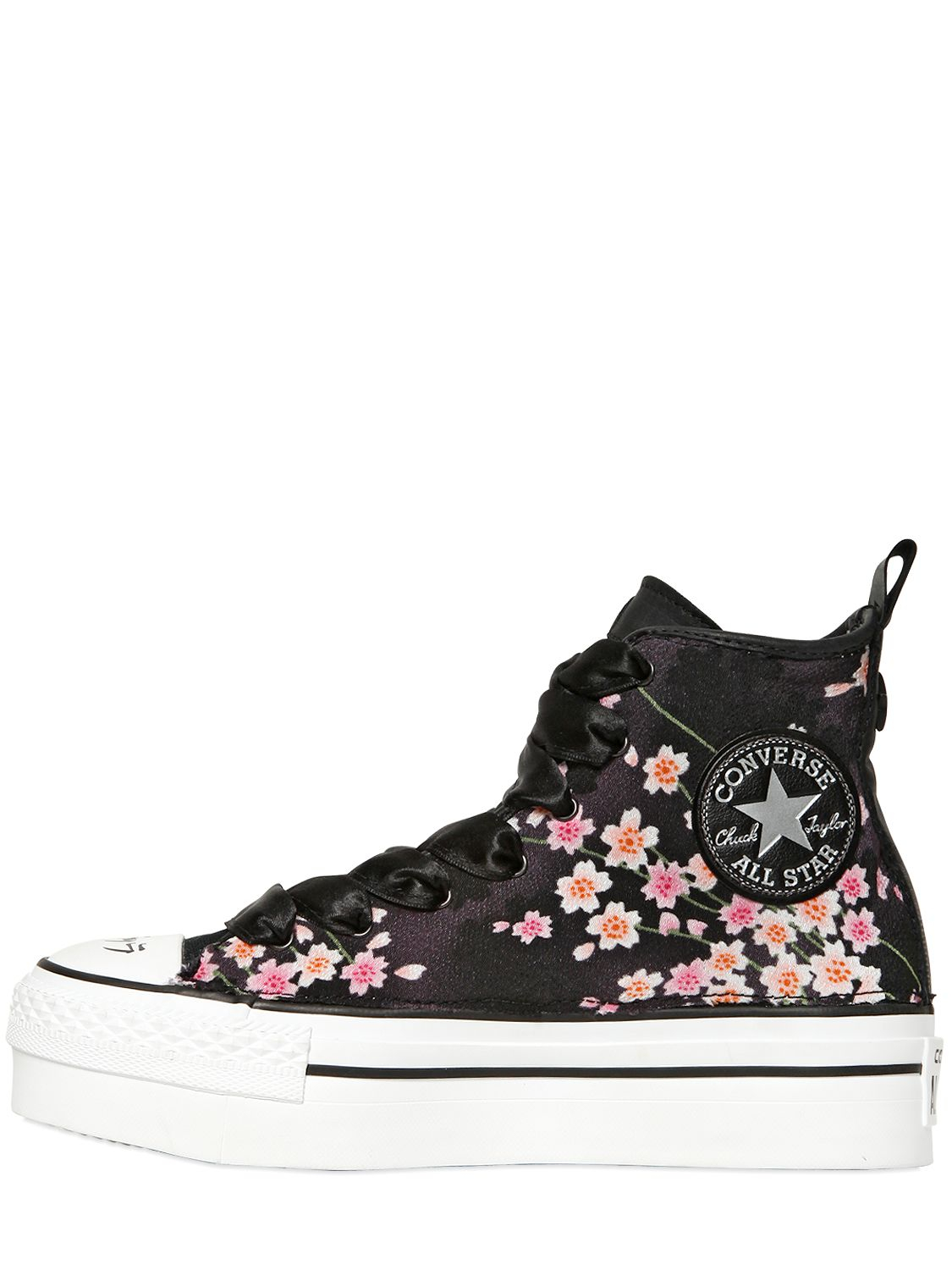 Converse 40mm Chuck Taylor High Top Sneakers in Black
