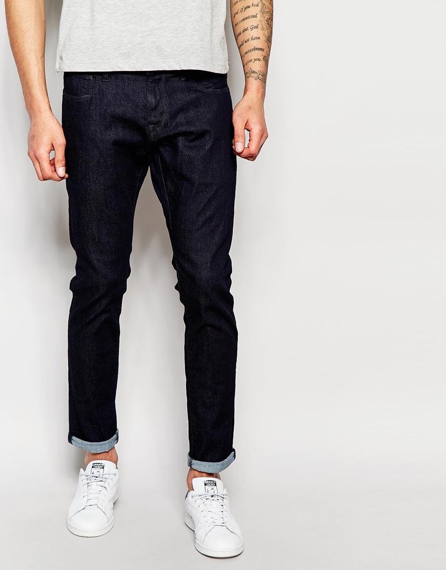 g star raw jeans 3301 deconstructed super slim superstretch rinsed wash rinsed in blue for men. Black Bedroom Furniture Sets. Home Design Ideas