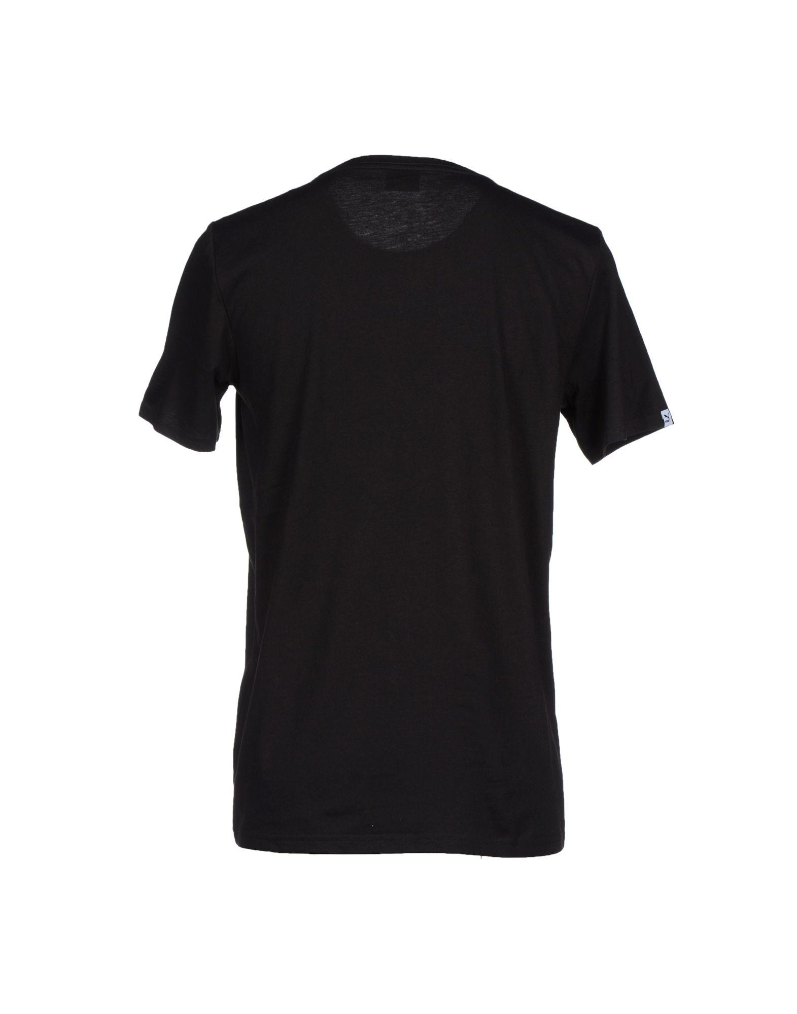 lyst puma tshirt in black for men