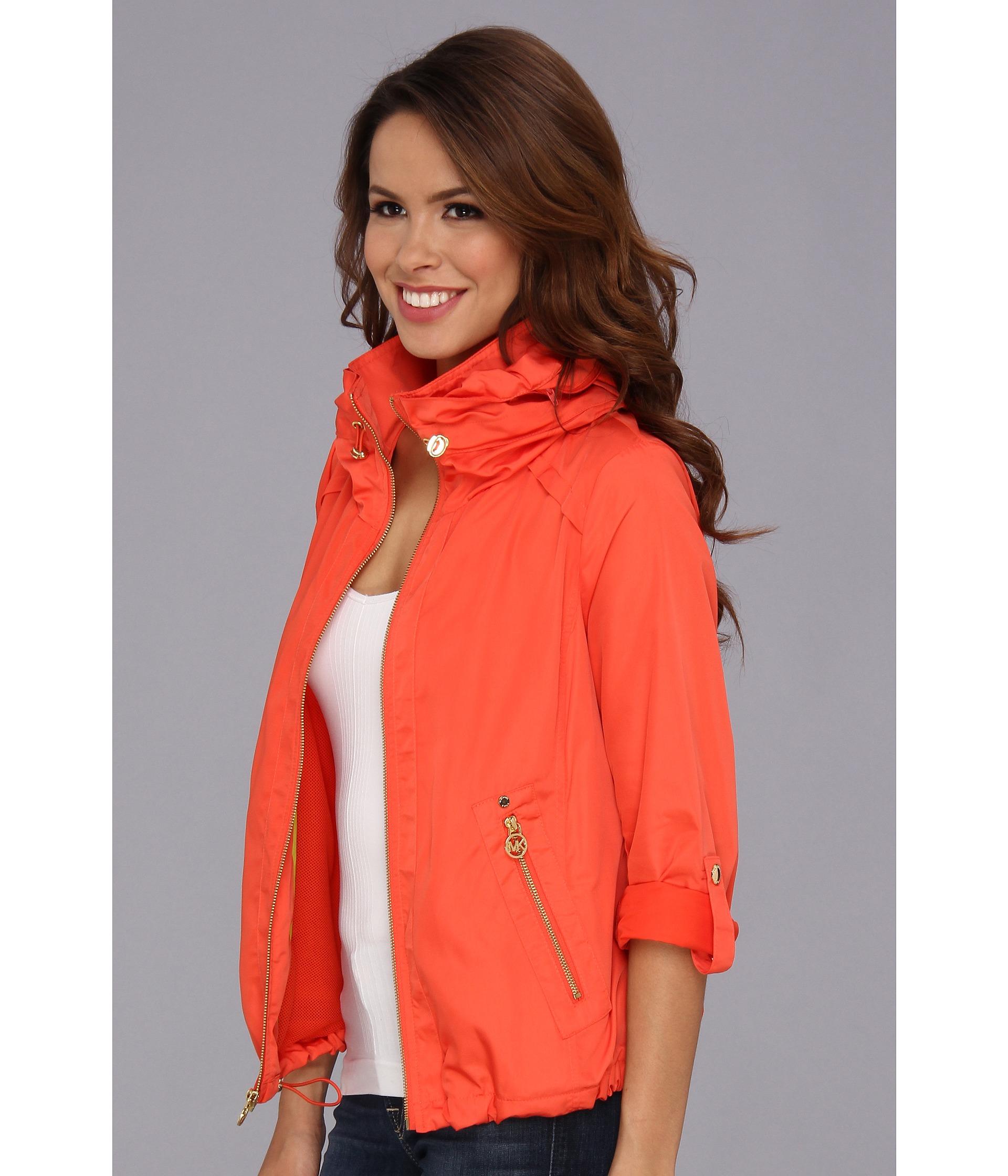 Michael michael kors Blouson Jacket in Orange   Lyst