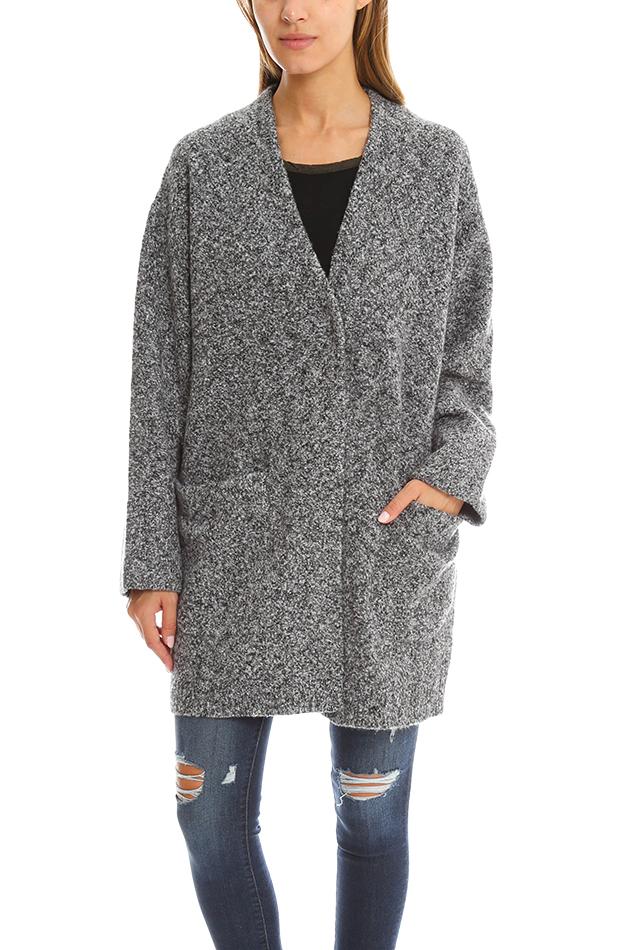 Rag & bone Diana Sweater Coat in Gray | Lyst
