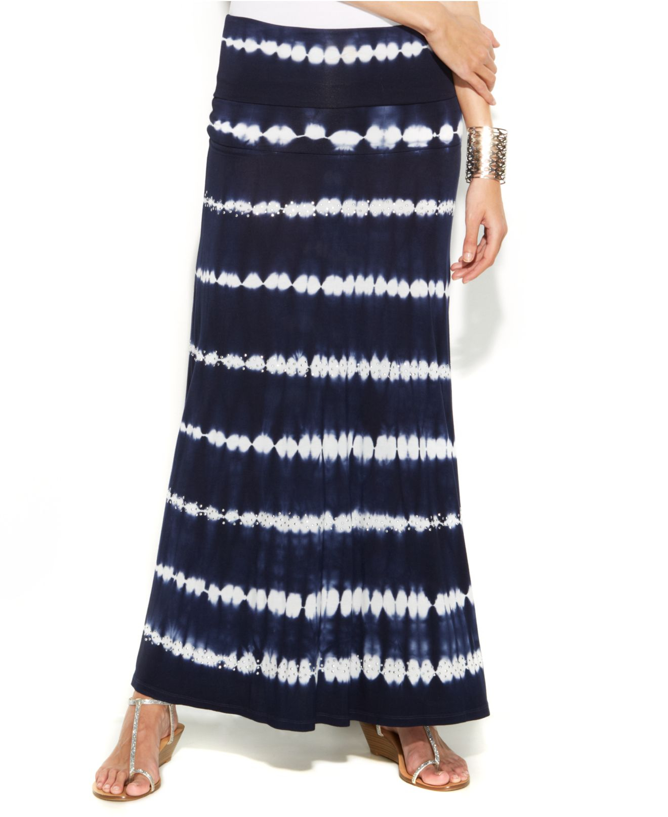 inc international concepts tie dye convertible maxi skirt