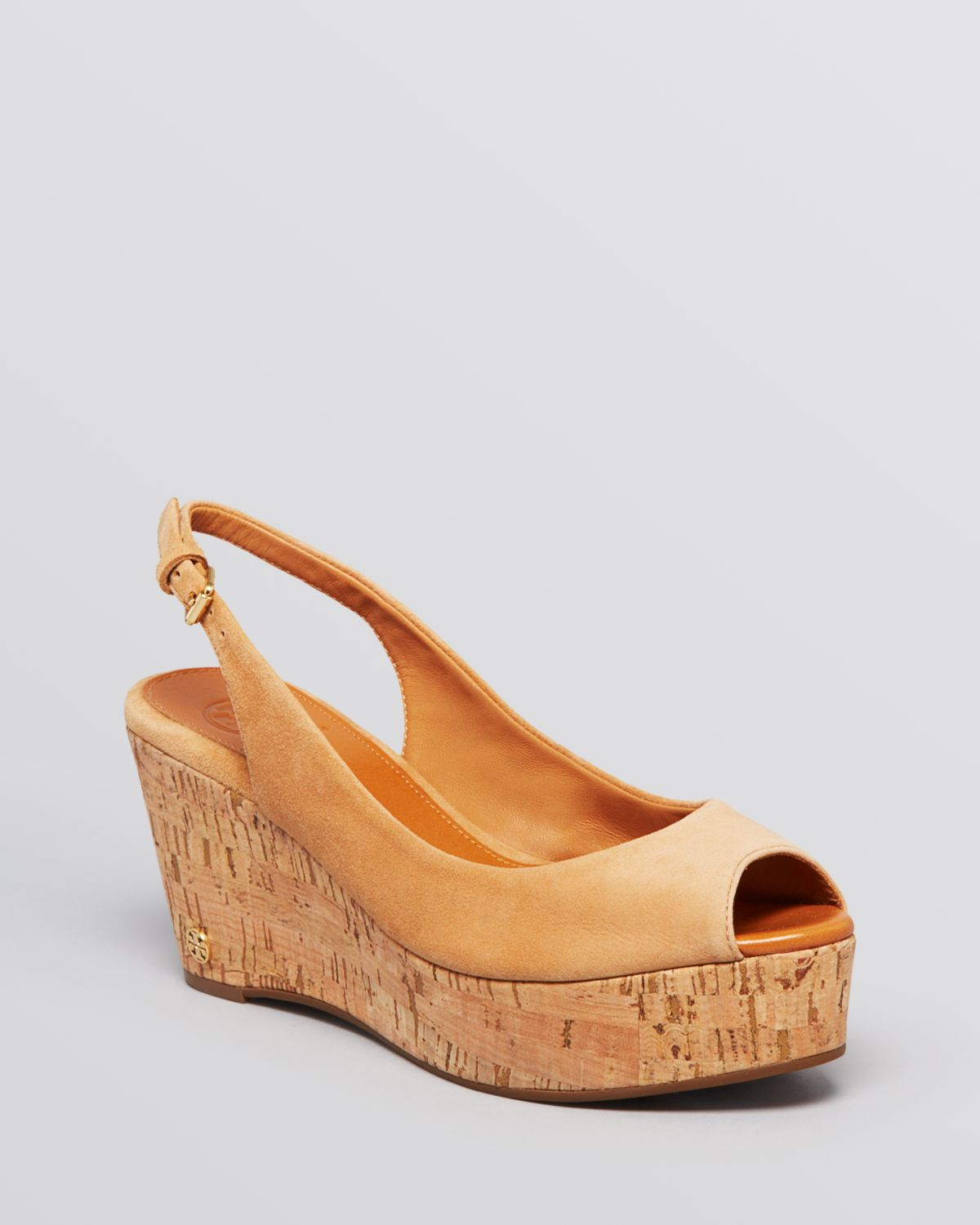 6a2c8f28242 Lyst - Tory Burch Platform Wedge Sandals - Rosalind in Brown
