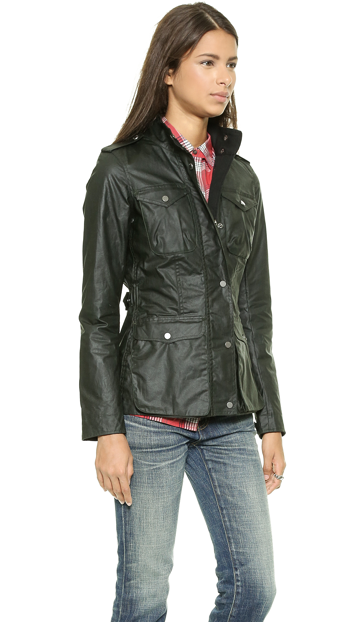 Hunter Women S Original Waxed Utility Jacket Forest